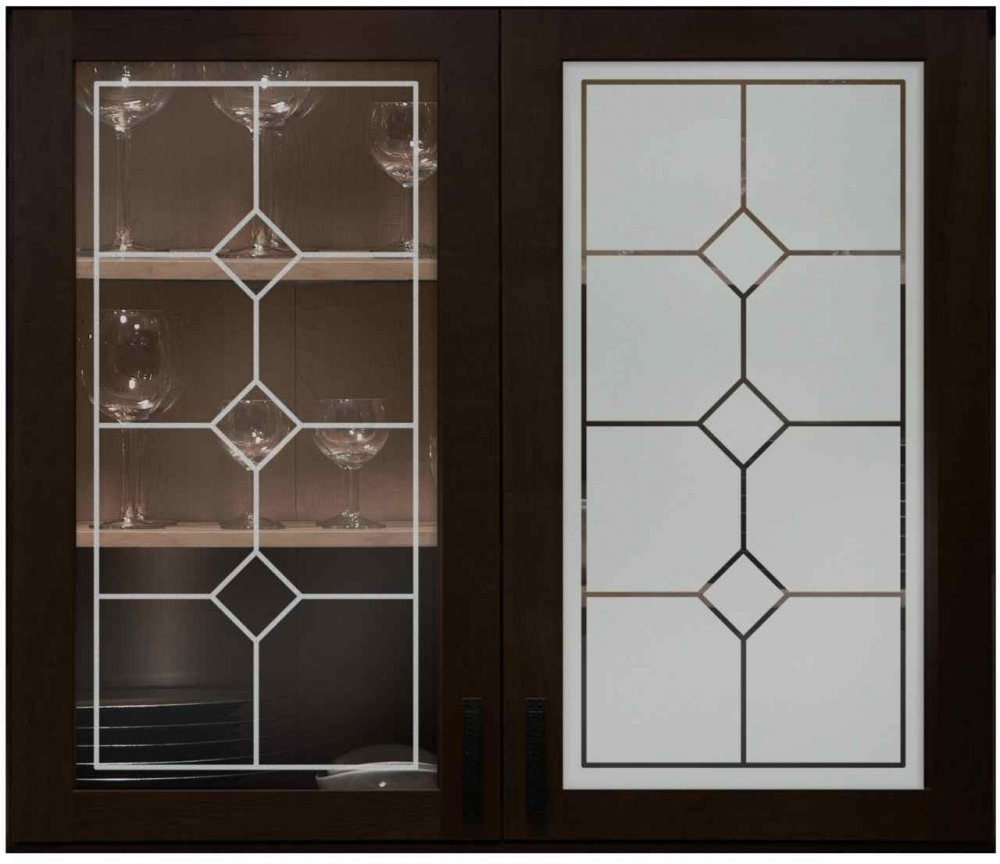 Frosted Glass Designs For Kitchen Cabinets