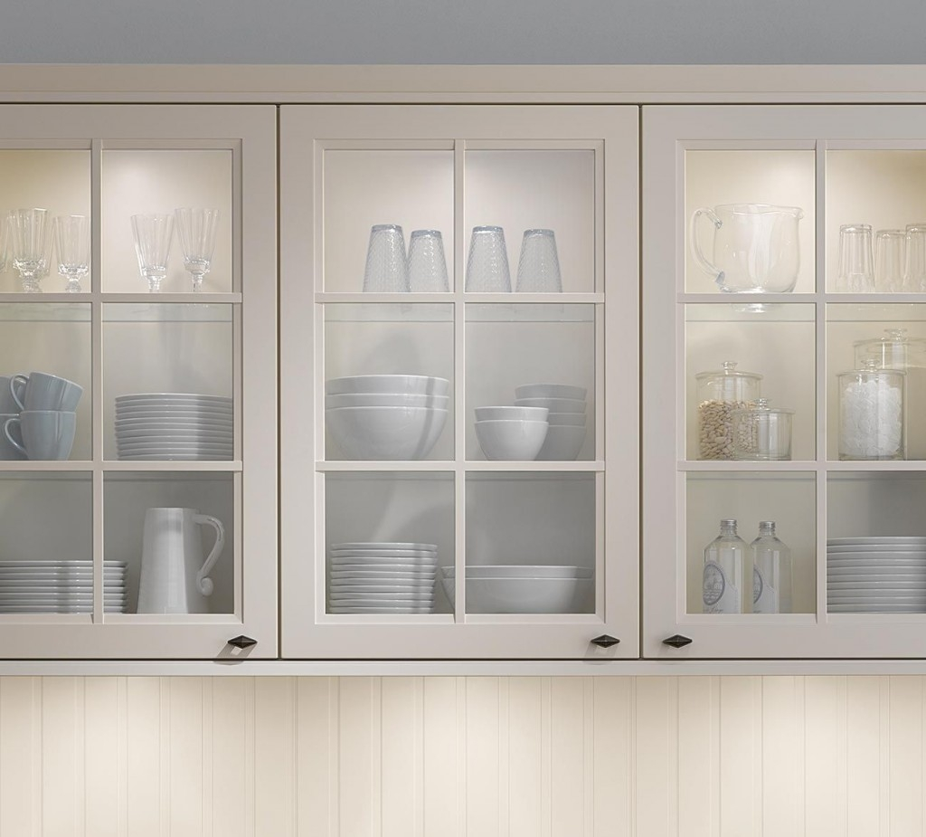 Glass Door Wall Cabinets For Kitchen