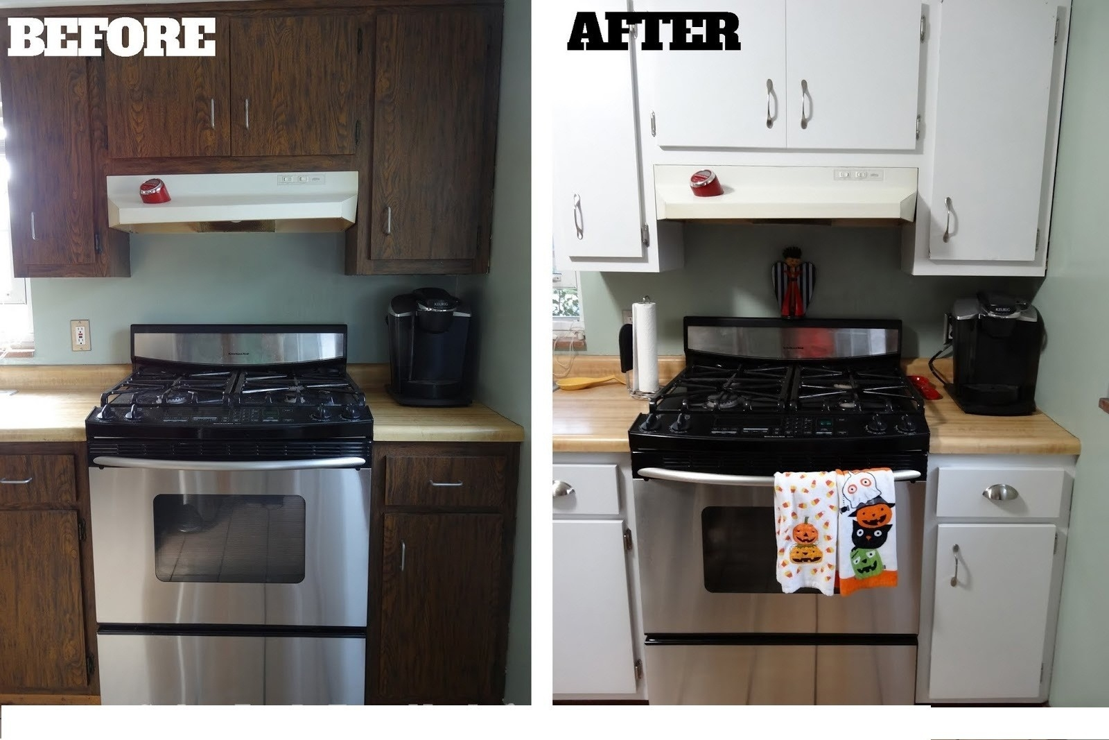 Glazing Kitchen Cabinets Before And After