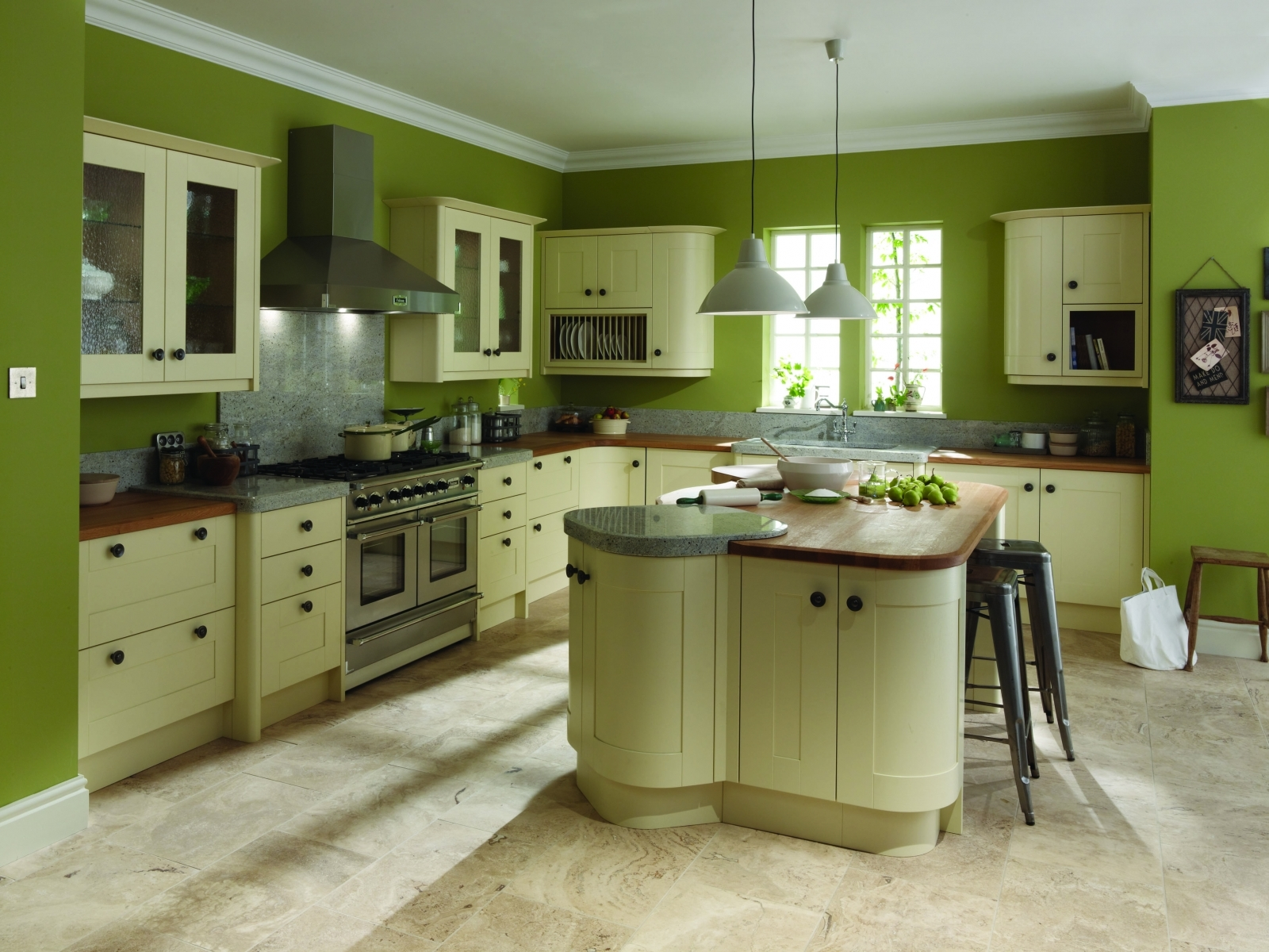 Green Kitchen Cabinet Colors