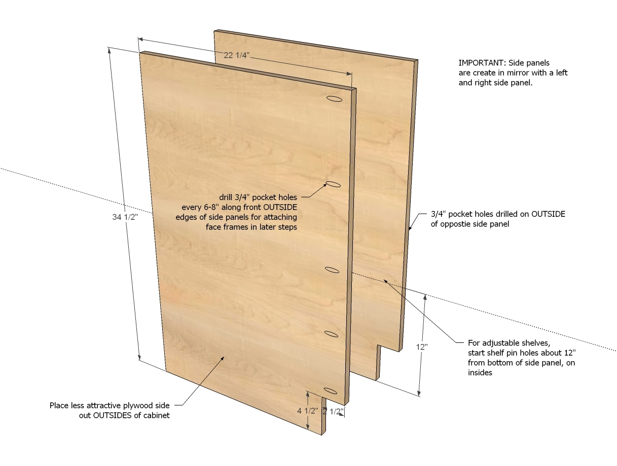 Kitchen Cabinet Construction Drawings