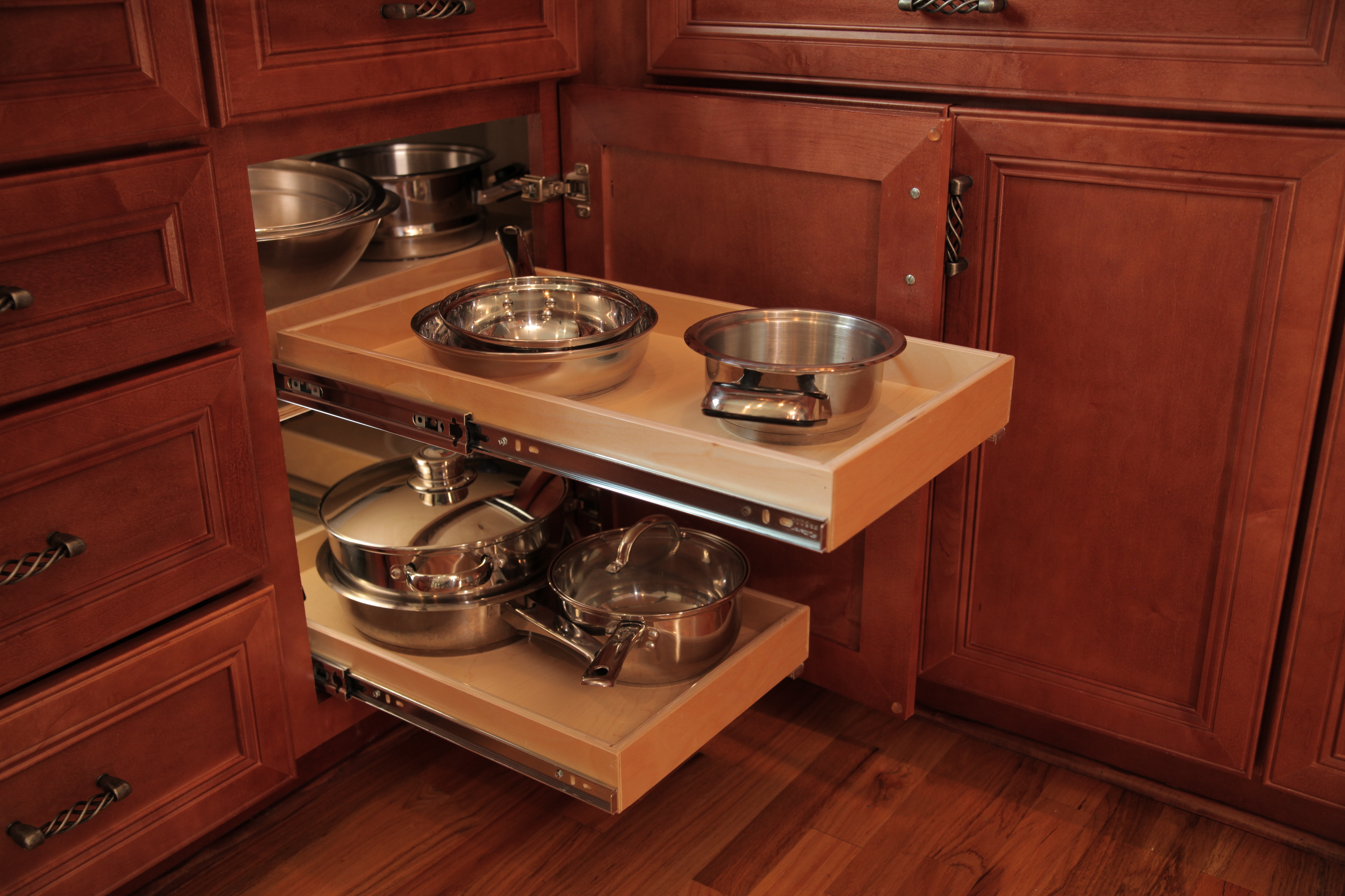 Kitchen Cabinet Corner Pull Outs