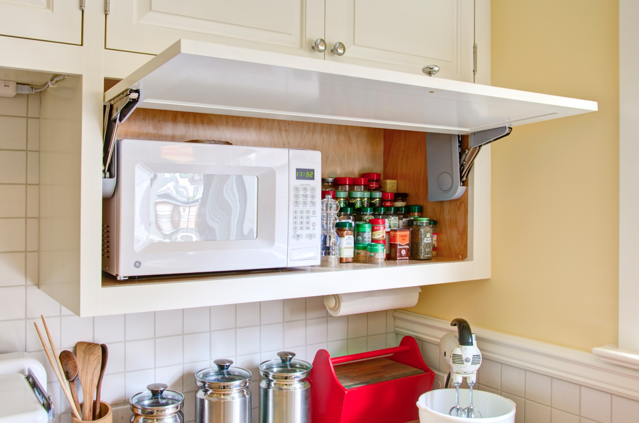Kitchen Cabinet Design For Microwave