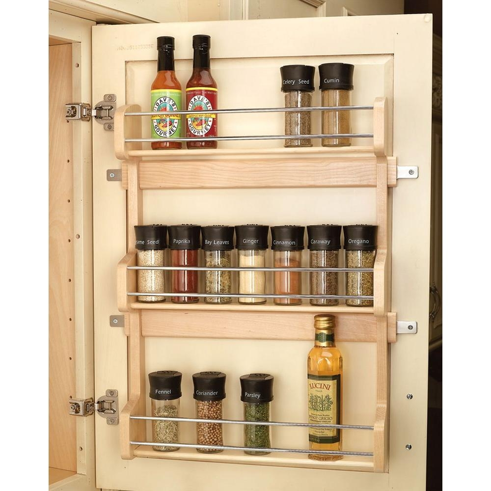 Kitchen Cabinet Door Spice Holderrev a shelf 215 in h x 165 in w x 312 in d large cabinet