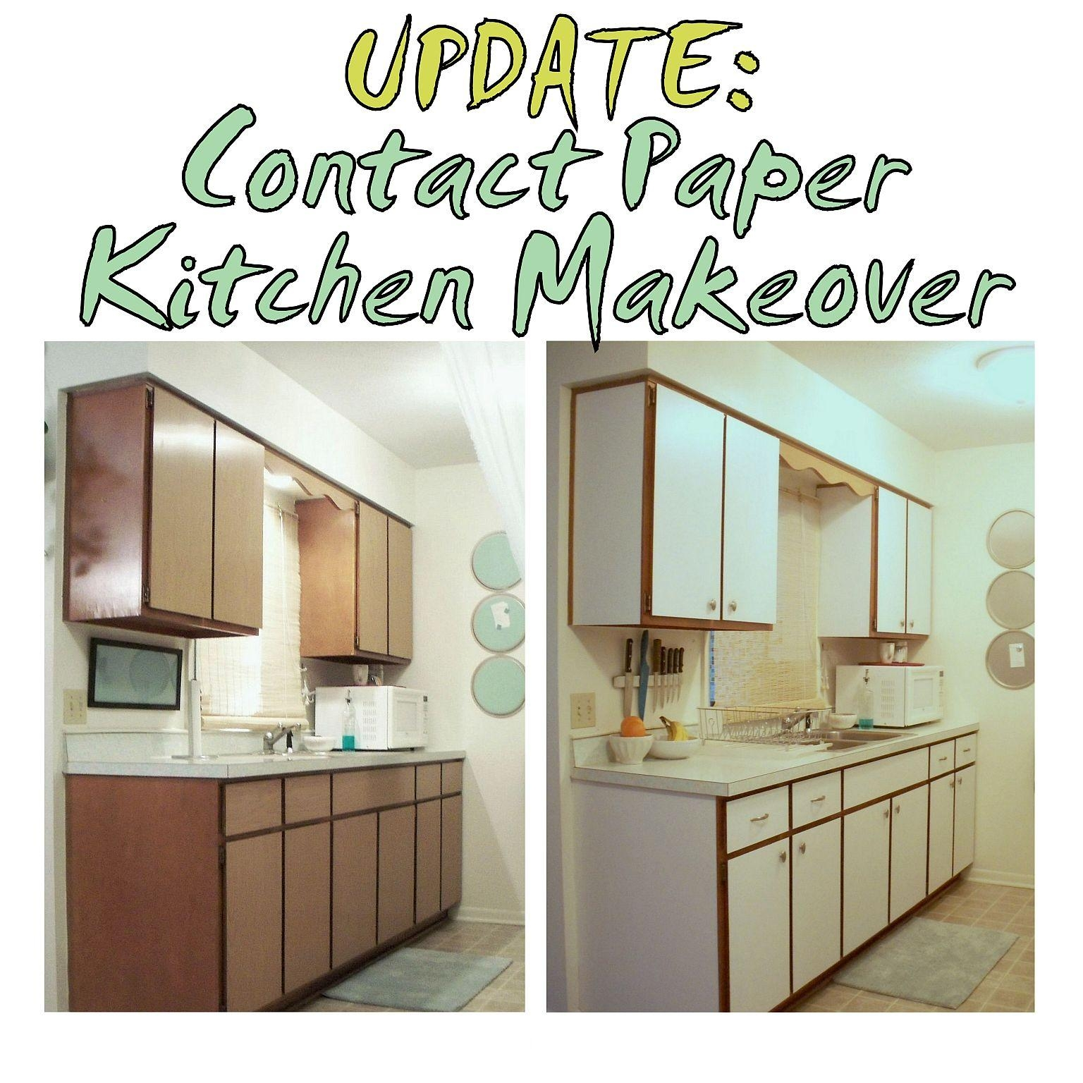 Kitchen Cabinet Makeover With Contact Paper