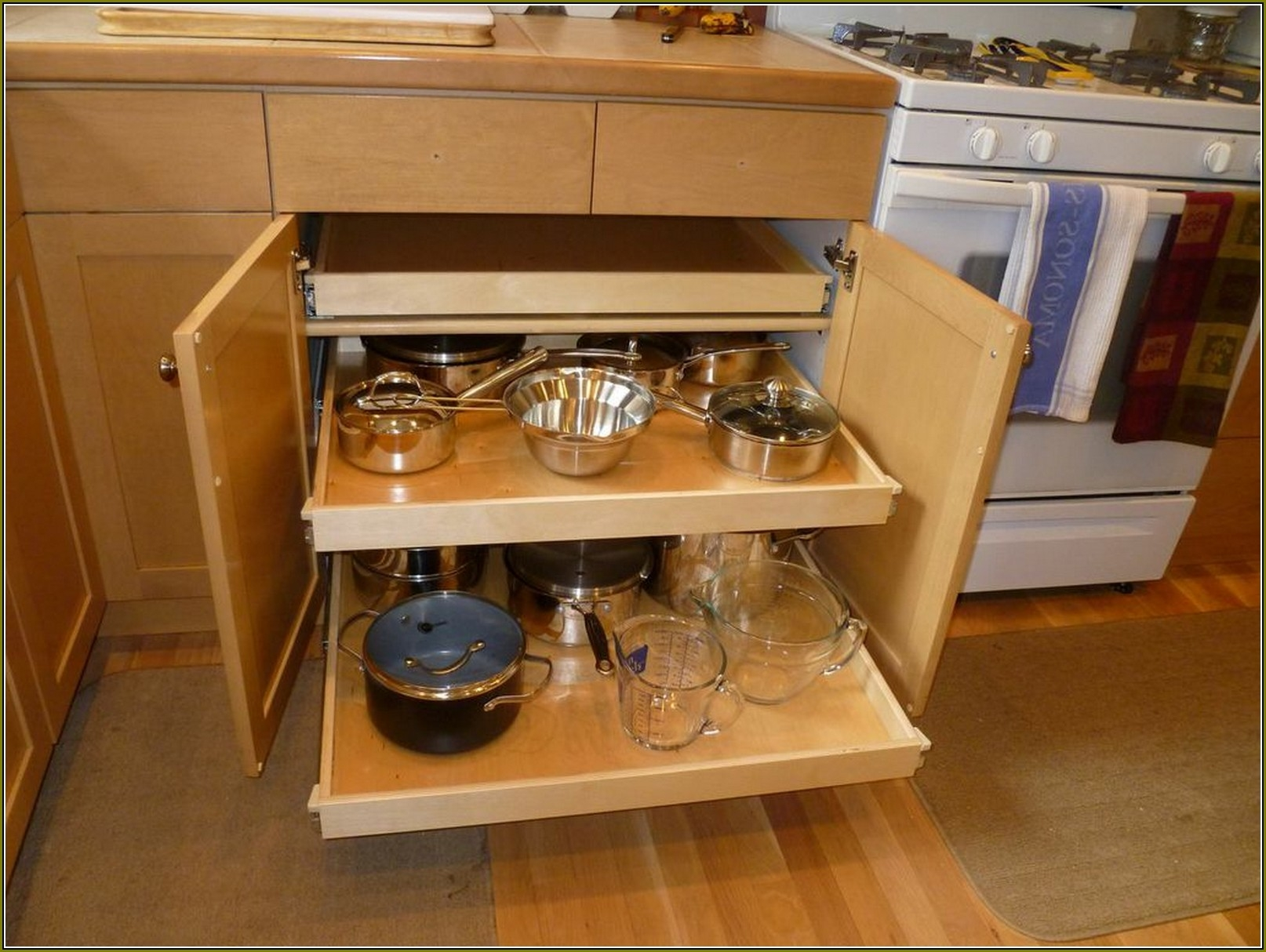 Kitchen Cabinet Roll Out Shelf Hardware