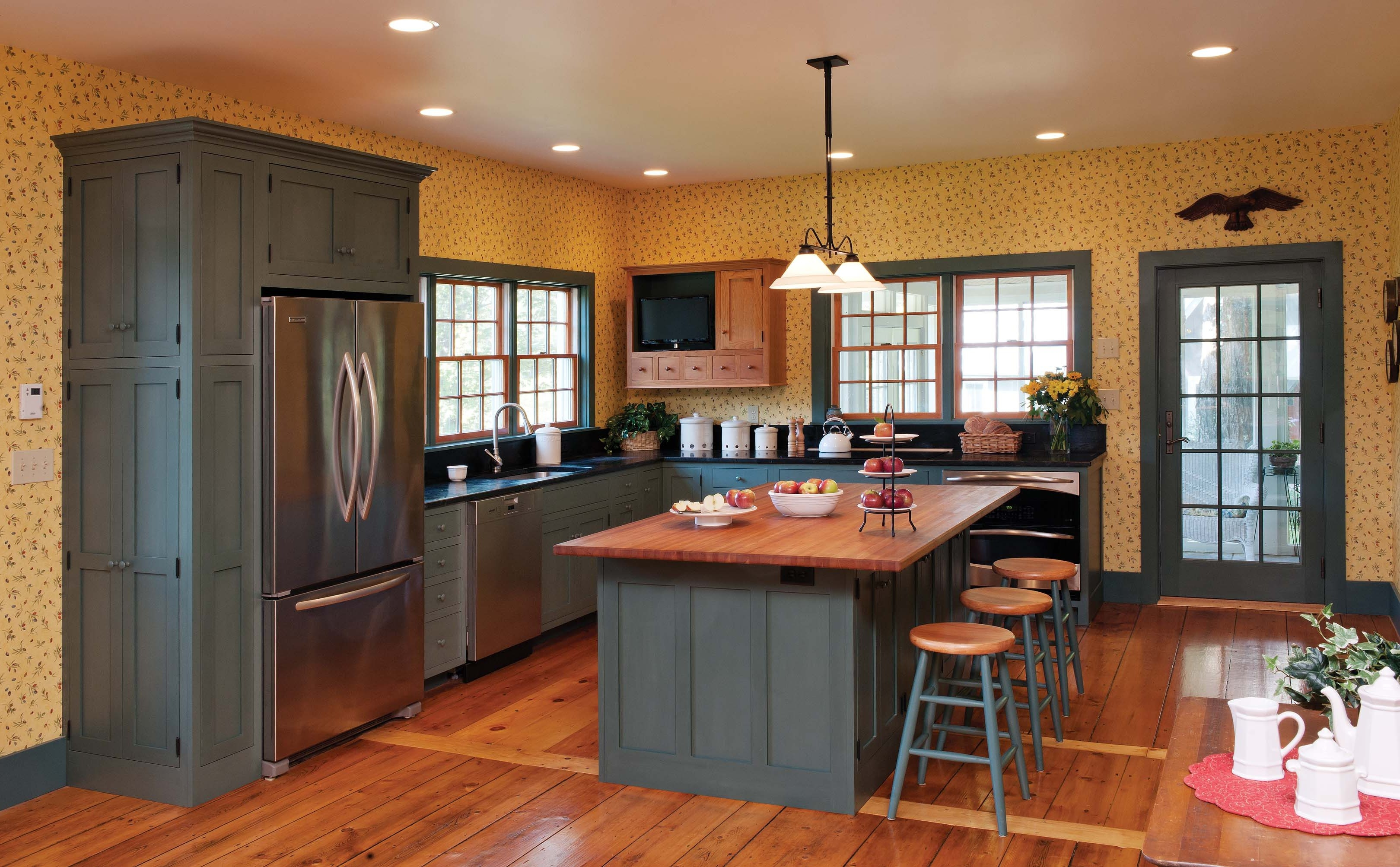 Kitchen Cabinet Staining Before And After