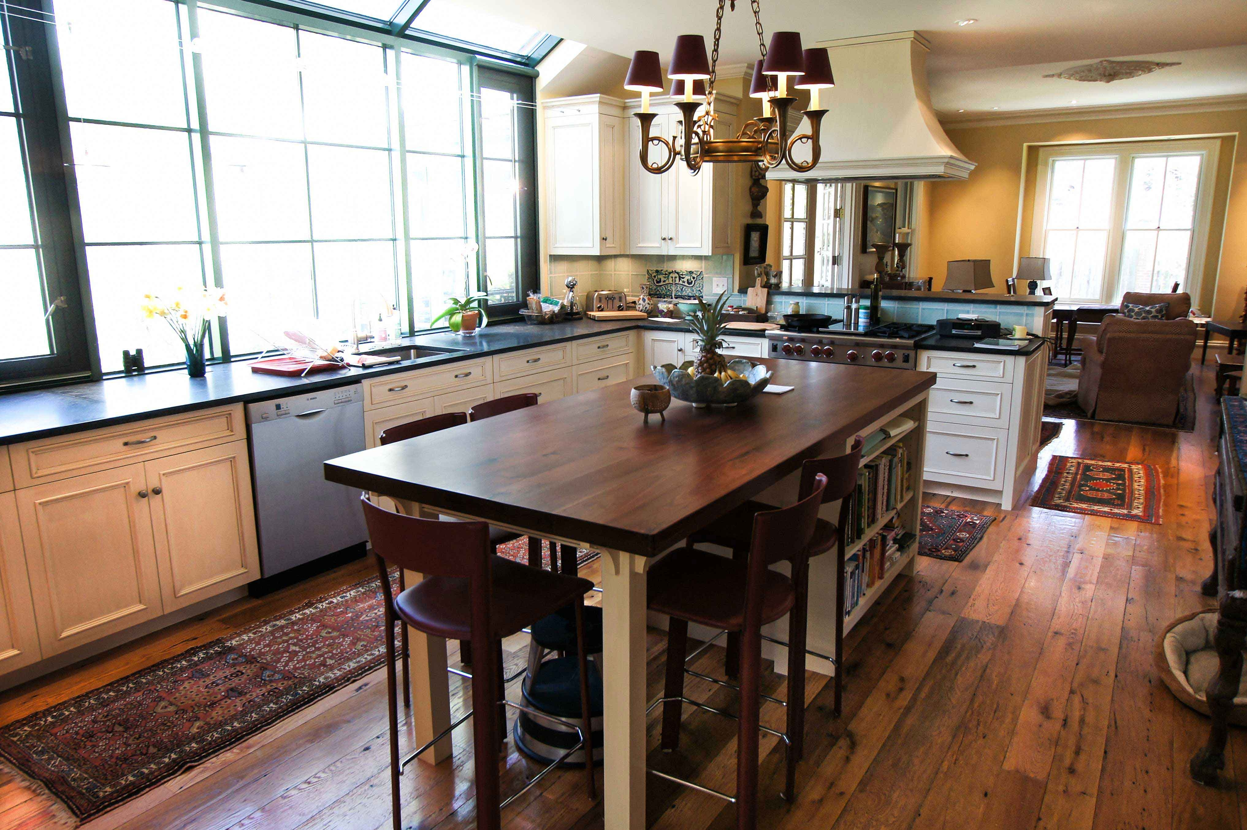 Kitchen Cabinet Table Combination