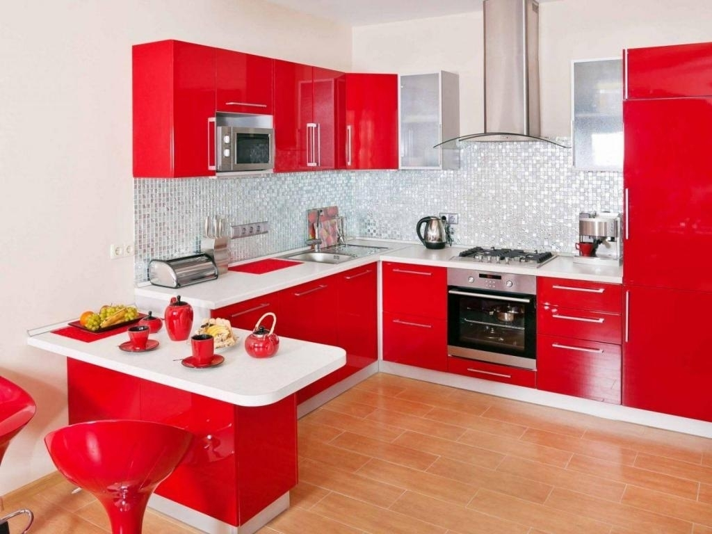 Kitchen Cabinets Red Color