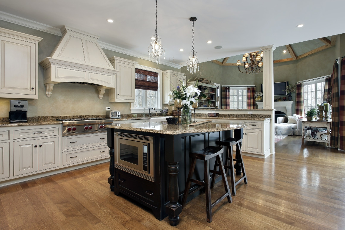 Kitchen Cabinets With Contrasting Island