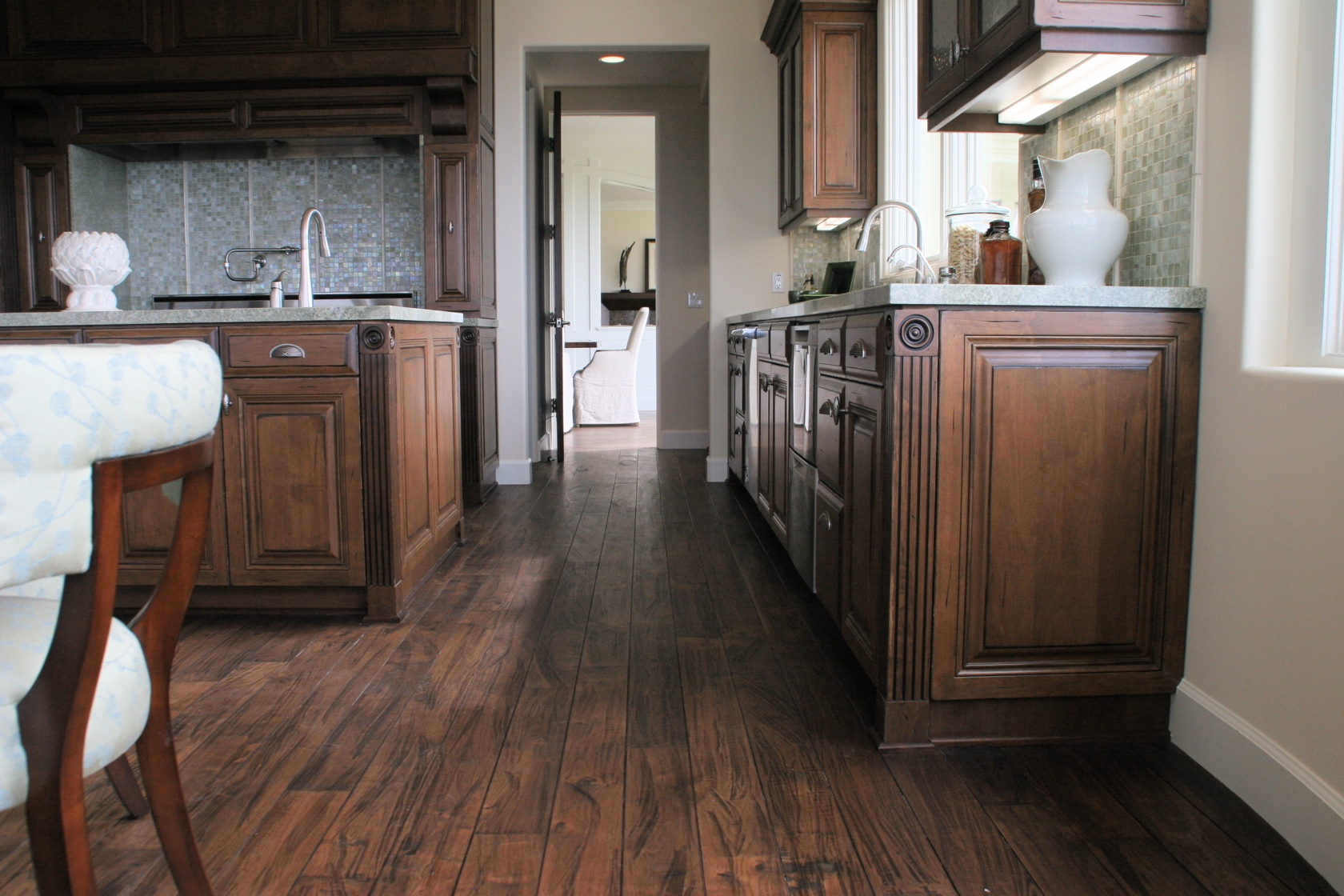 Kitchen Cabinets With Walnut Floors