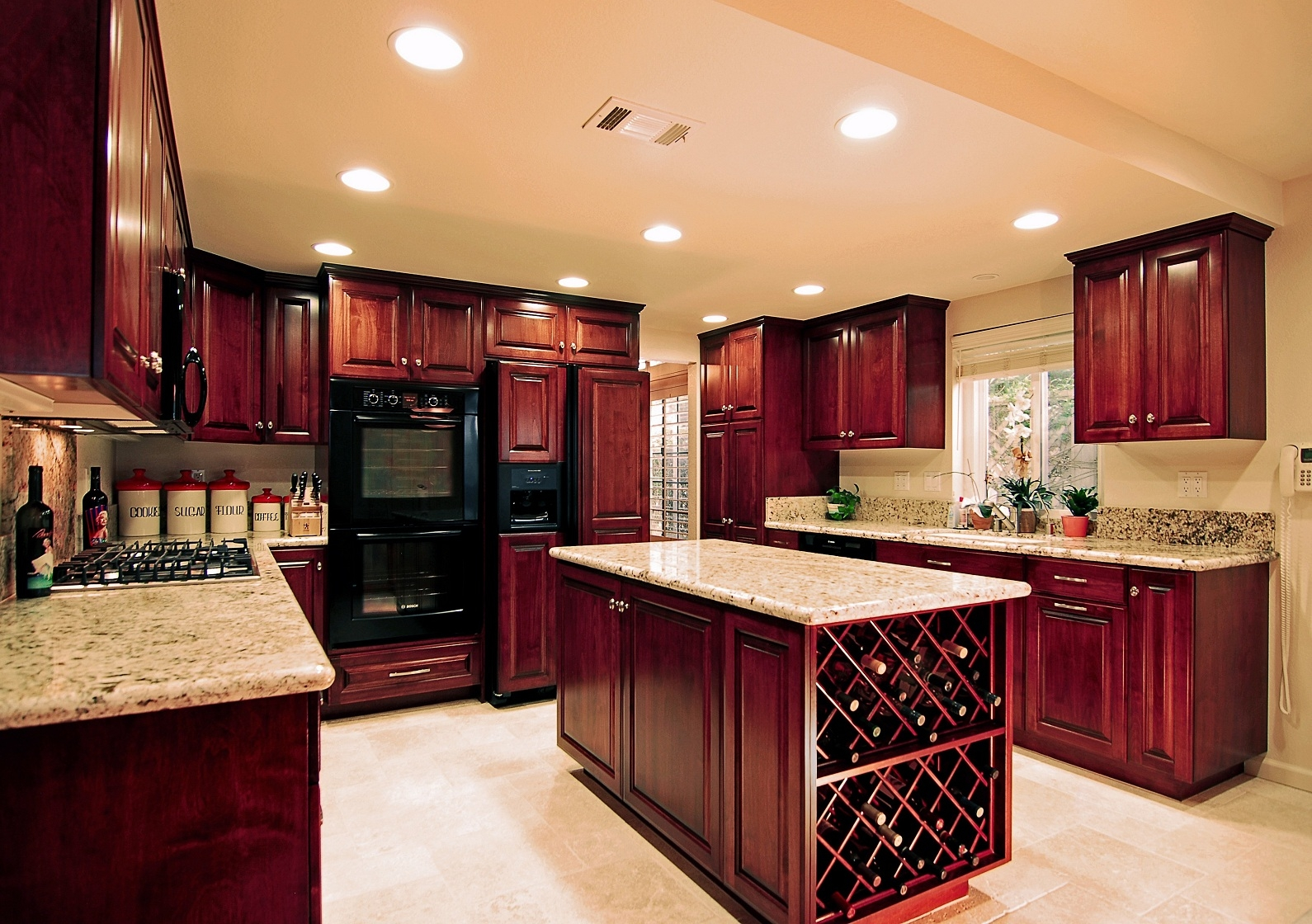 Kitchen Colors With Dark Cherry Cabinets