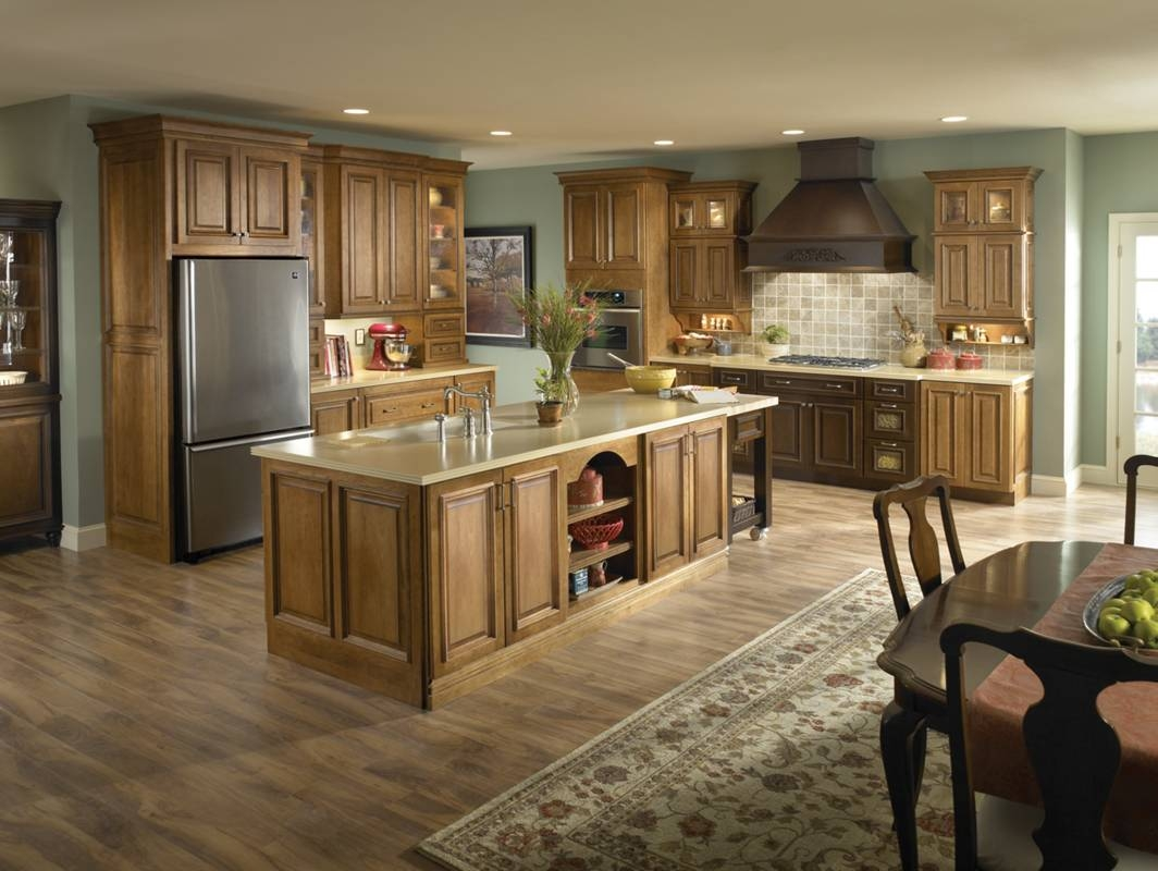 Kitchen Floors With Light Cabinets
