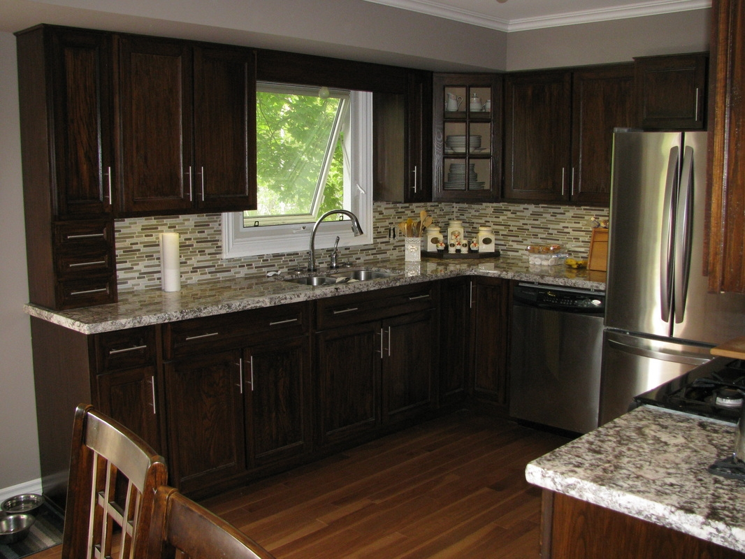 Kitchen Pictures With Dark Oak Cabinets