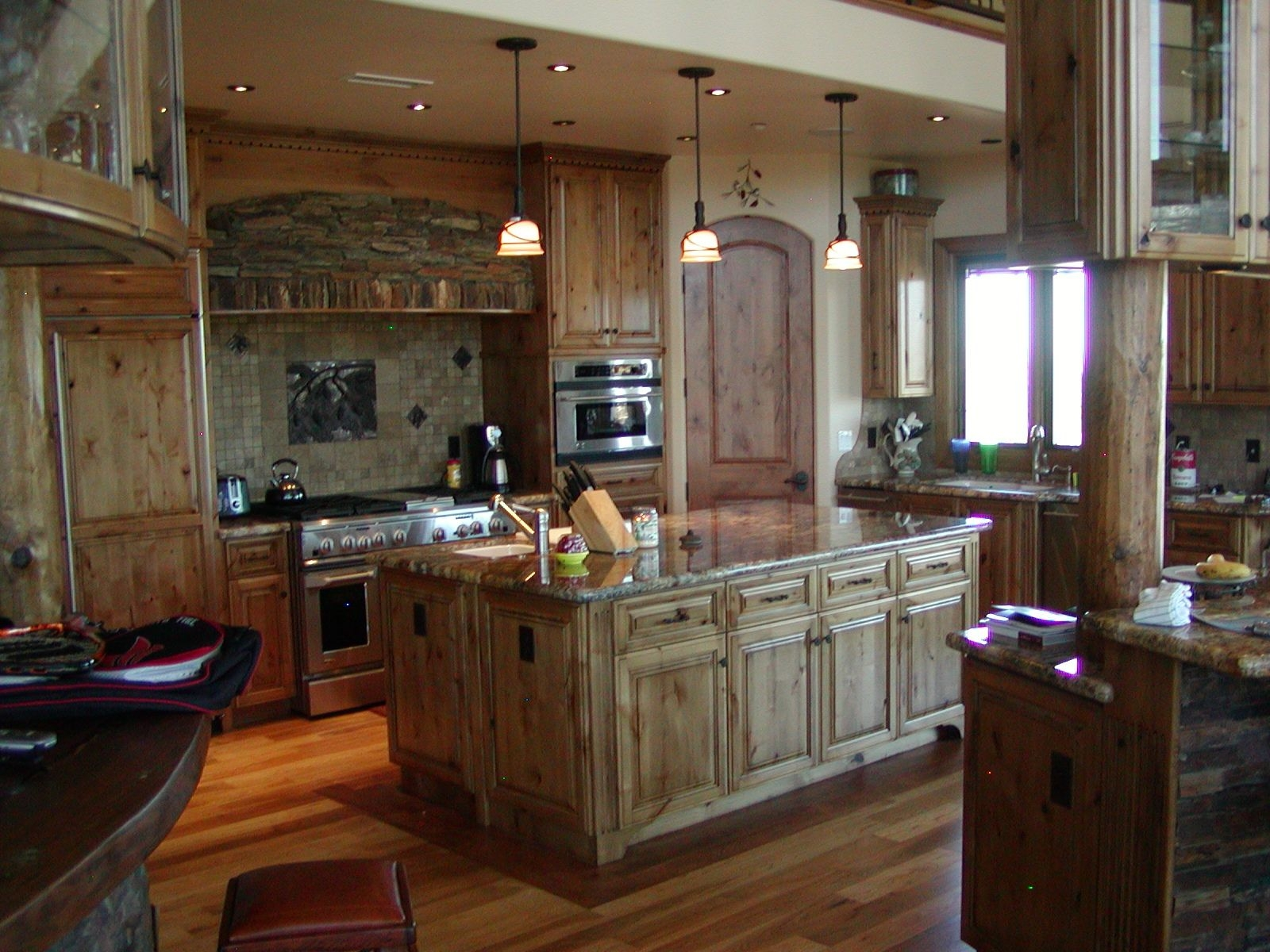 Knotty Alder Kitchen Cabinets Solid Wood Construction