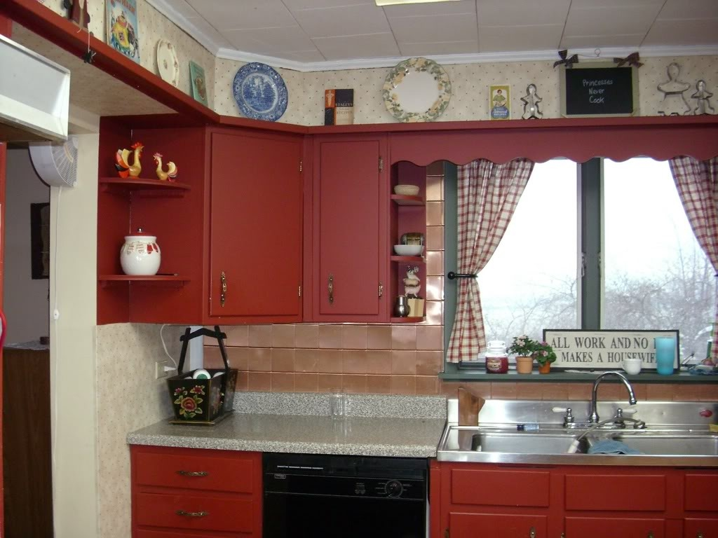 Large Wall Of Kitchen Cabinets