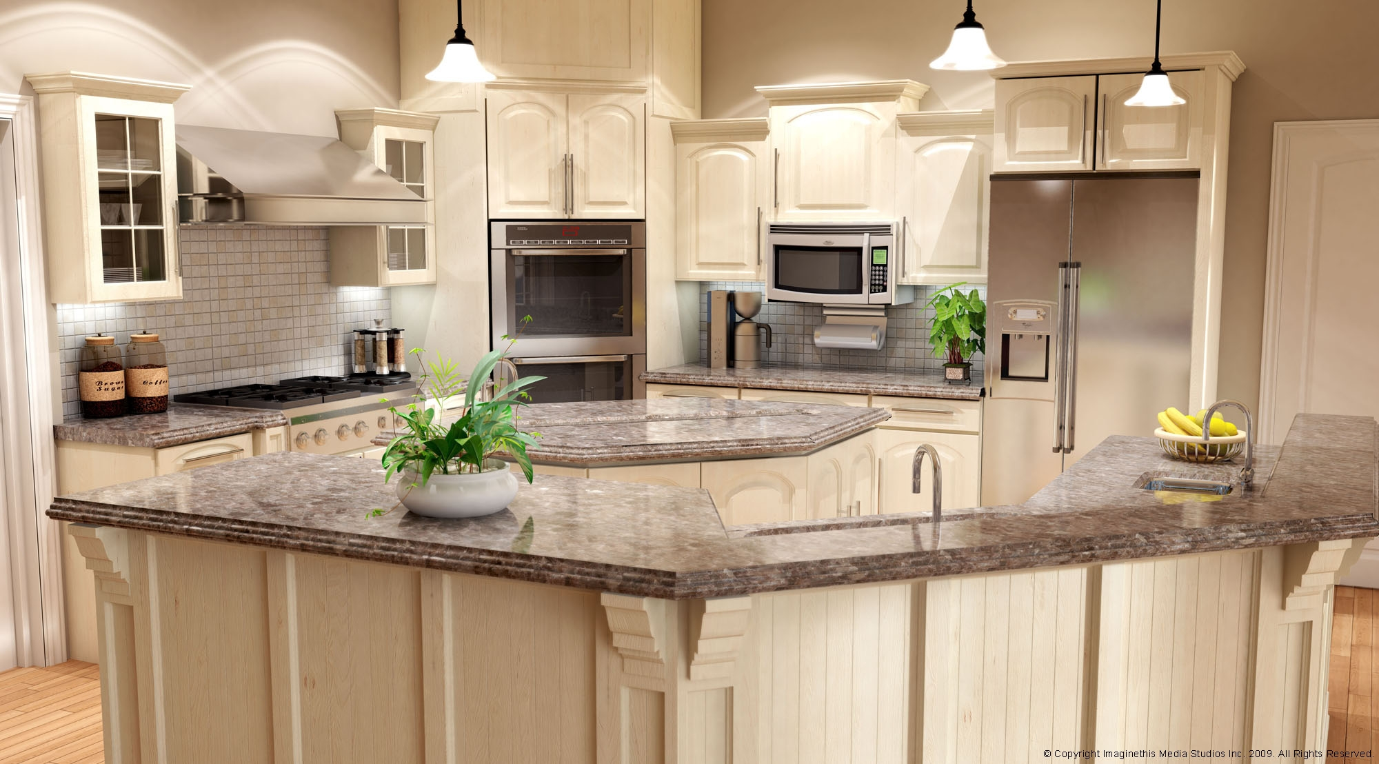 Marble Top Kitchen Cabinets