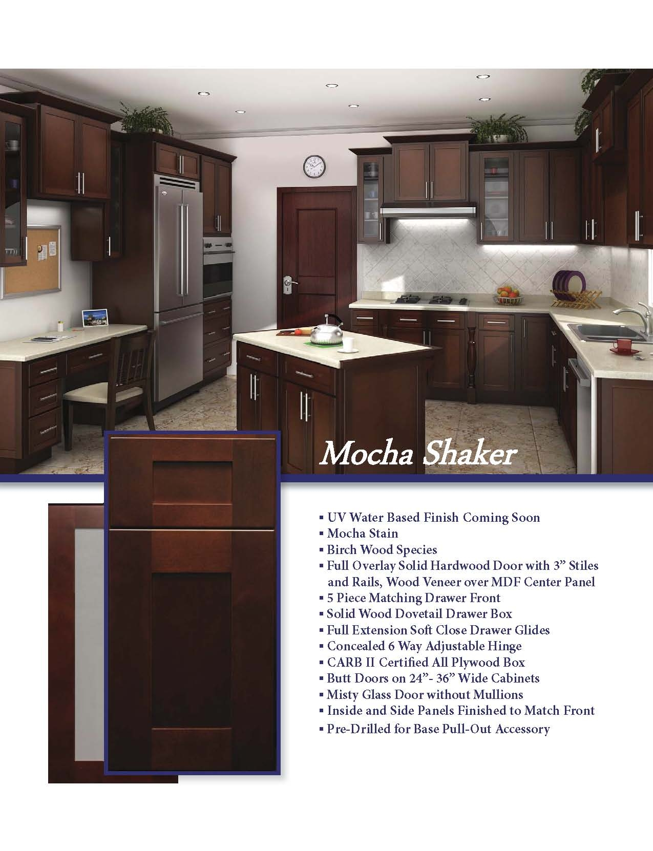 Mocha Stained Kitchen Cabinets