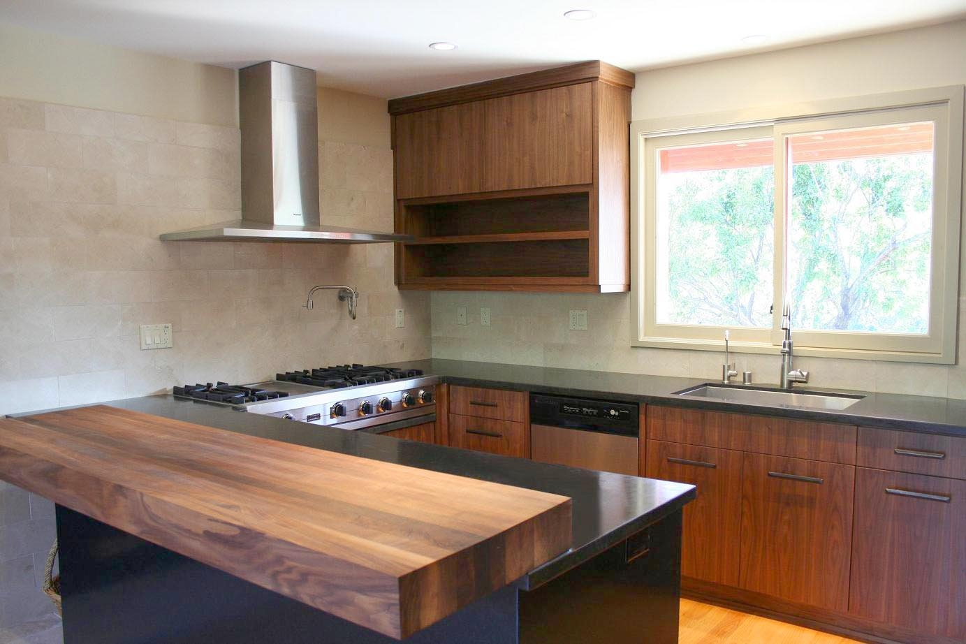 Modern Kitchen Cabinets Walnut