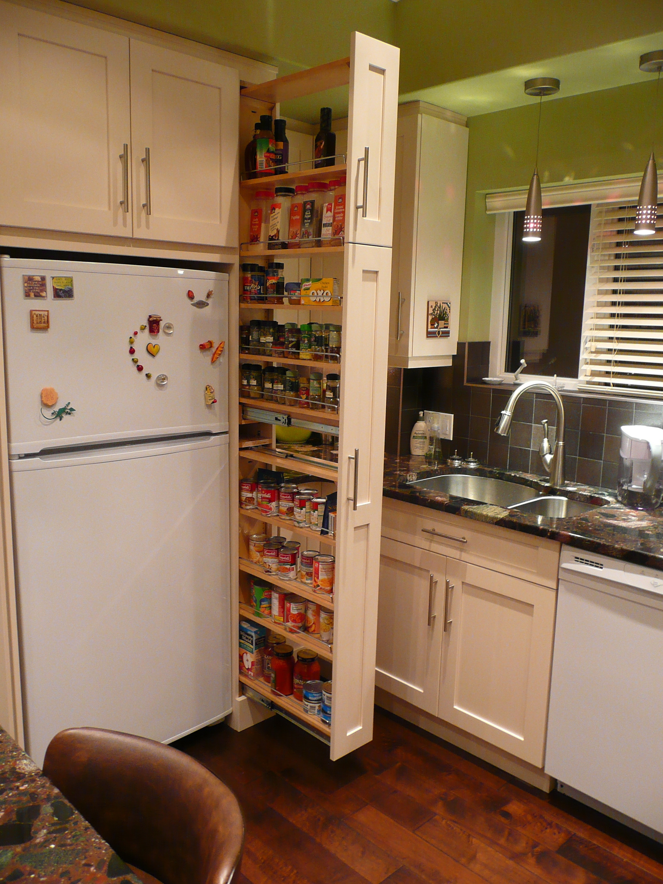Narrow Kitchen Cabinet Pull Out