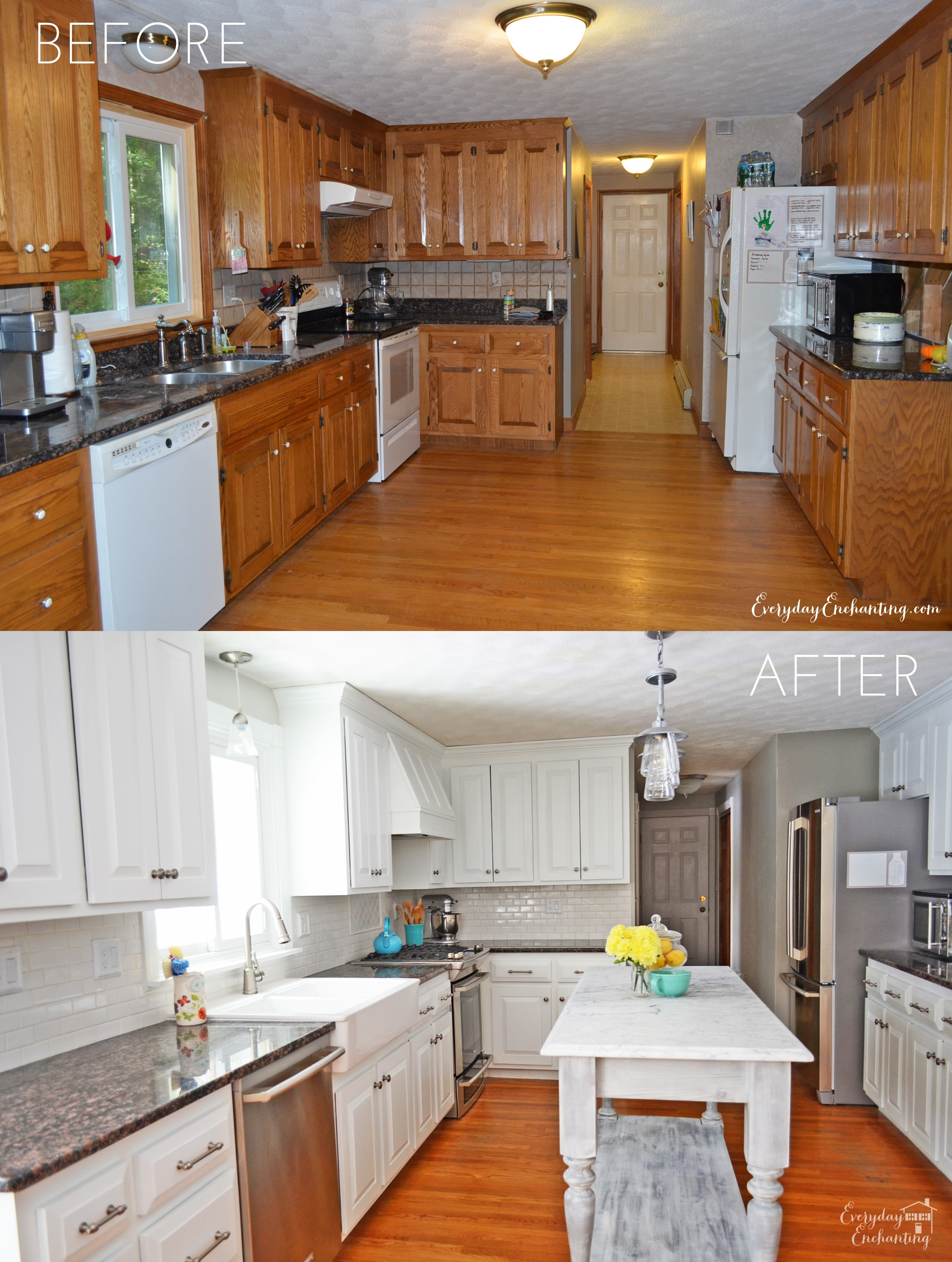 Oak Kitchen Cabinet Updates