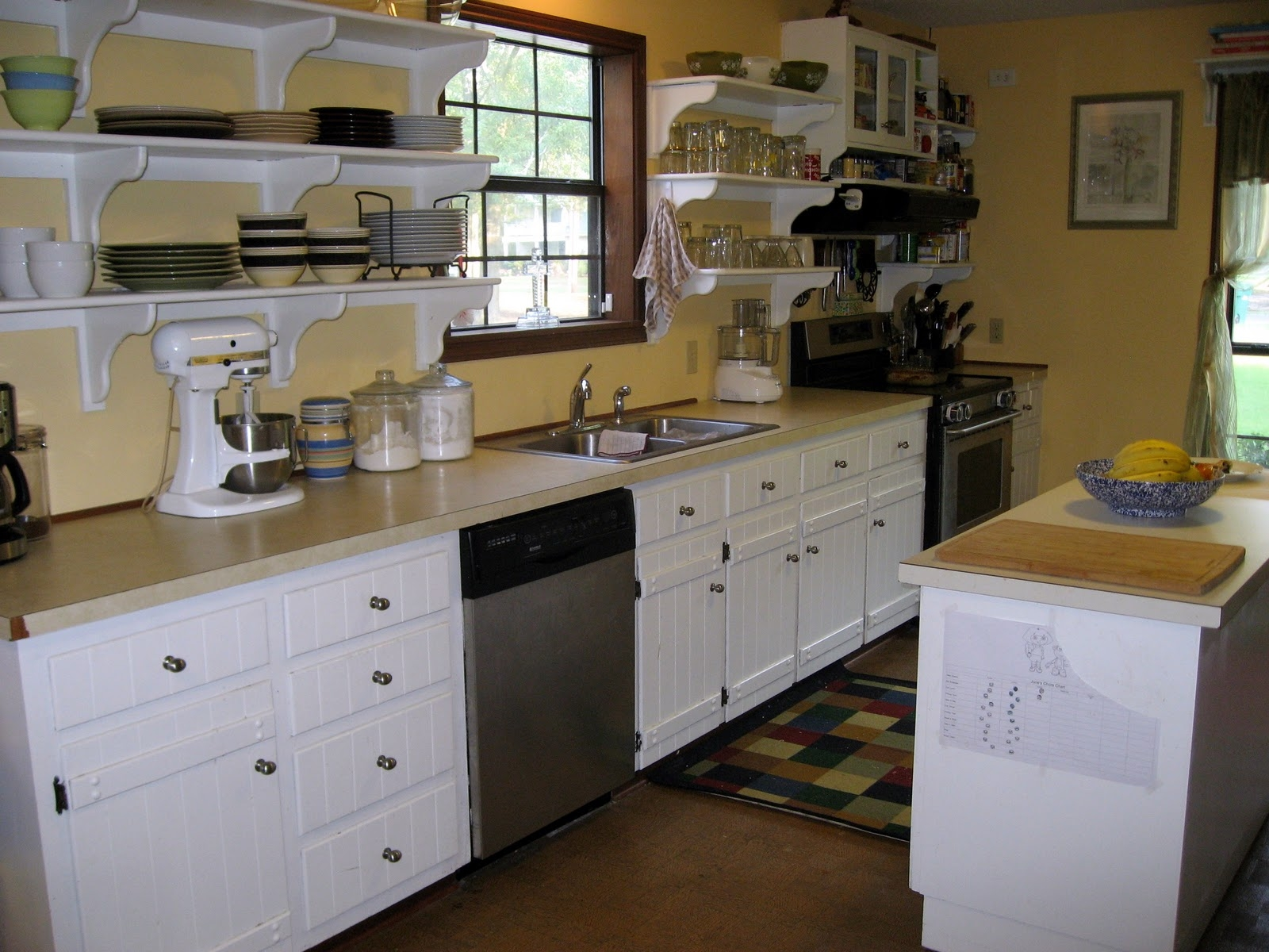 Open Kitchen Shelves Instead Of Cabinets