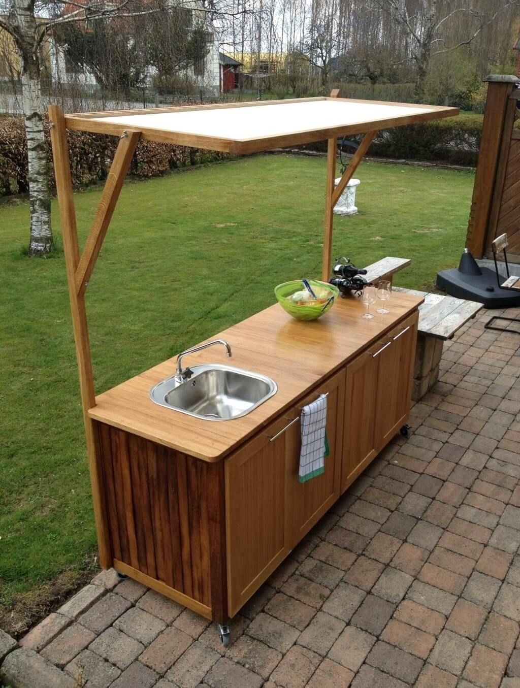 Outdoor Kitchen Cabinets With Sink