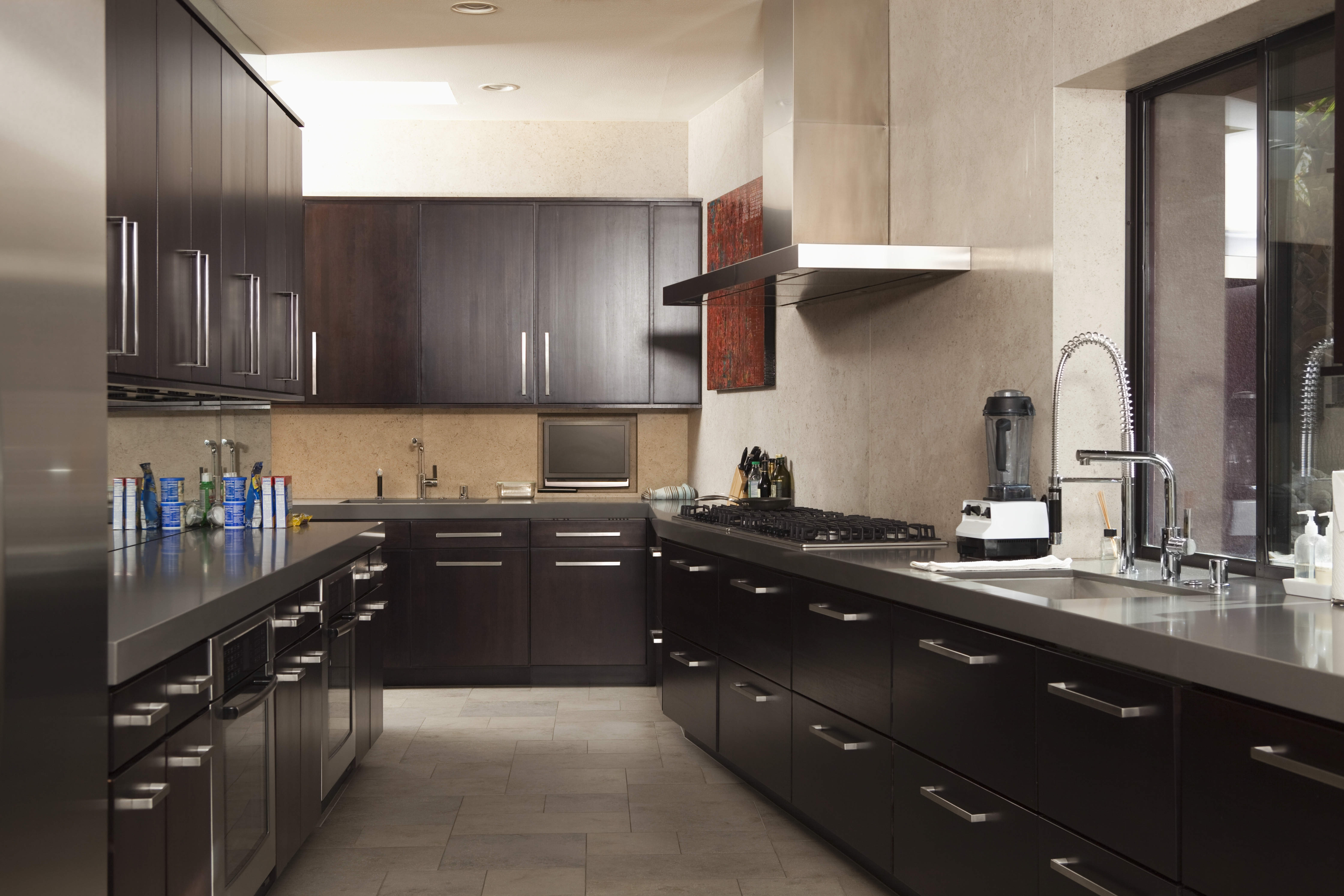 Photo Of Kitchen With Black Cabinets