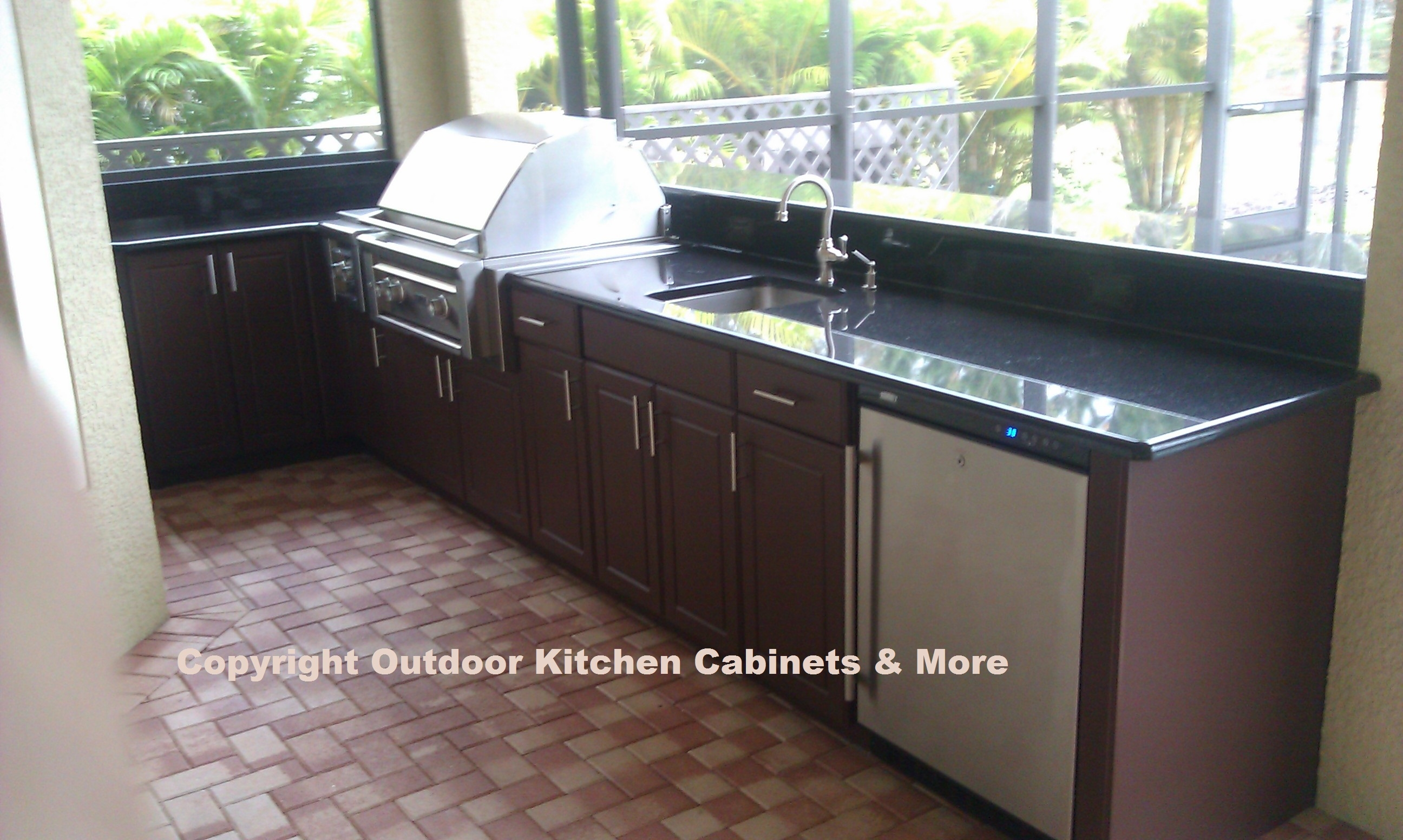 Polymer Cabinets For Outdoor Kitchens