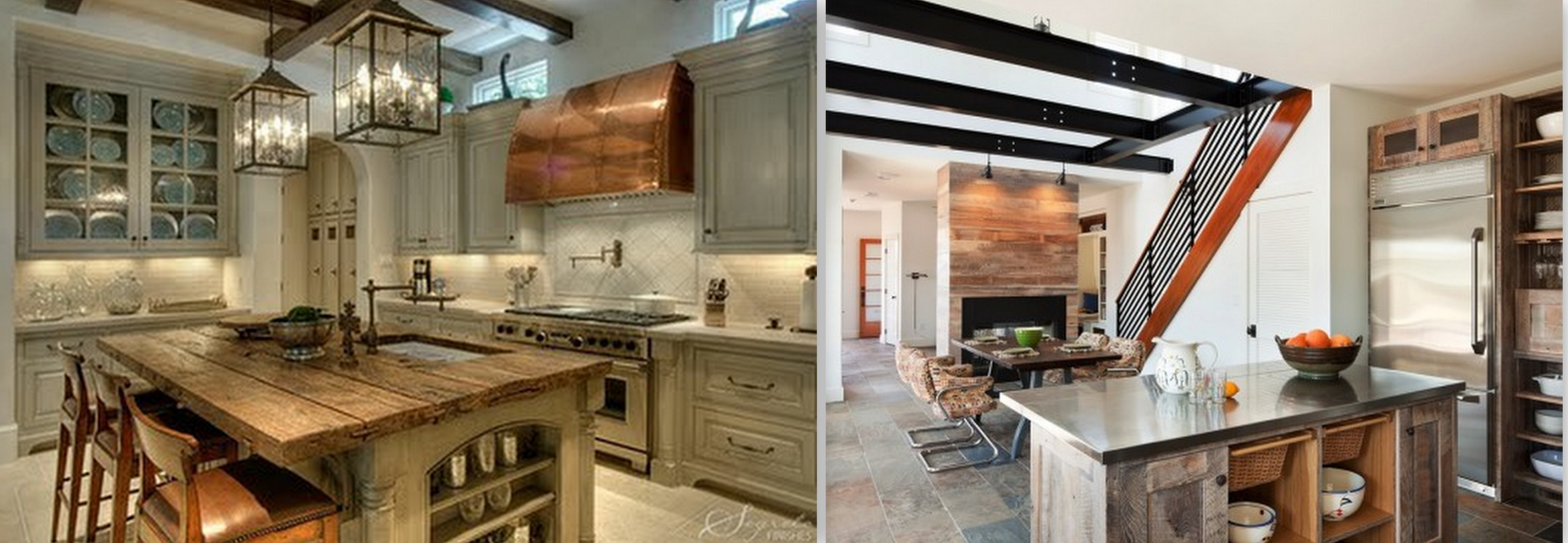 Reclaimed Lumber Kitchen Cabinets