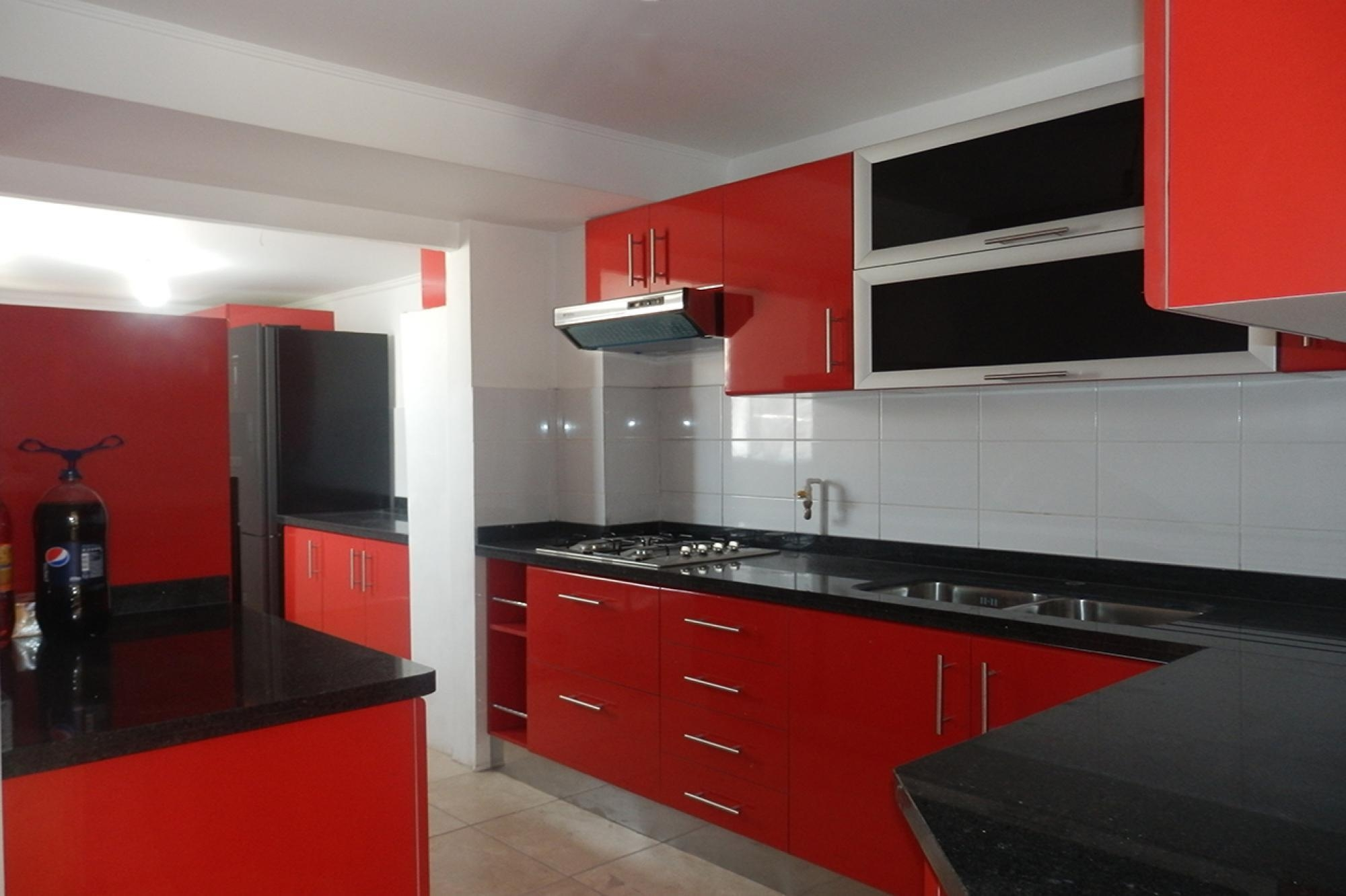 Red And Black Kitchen Cabinet Ideas