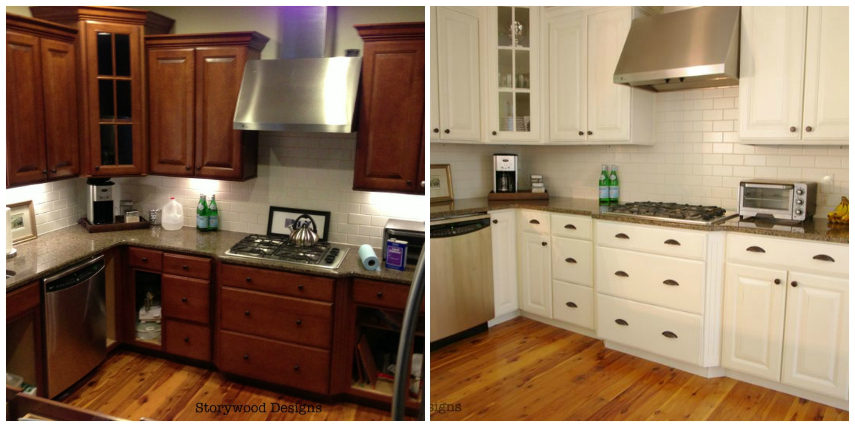 Refurbished Kitchen Cabinets Before And After