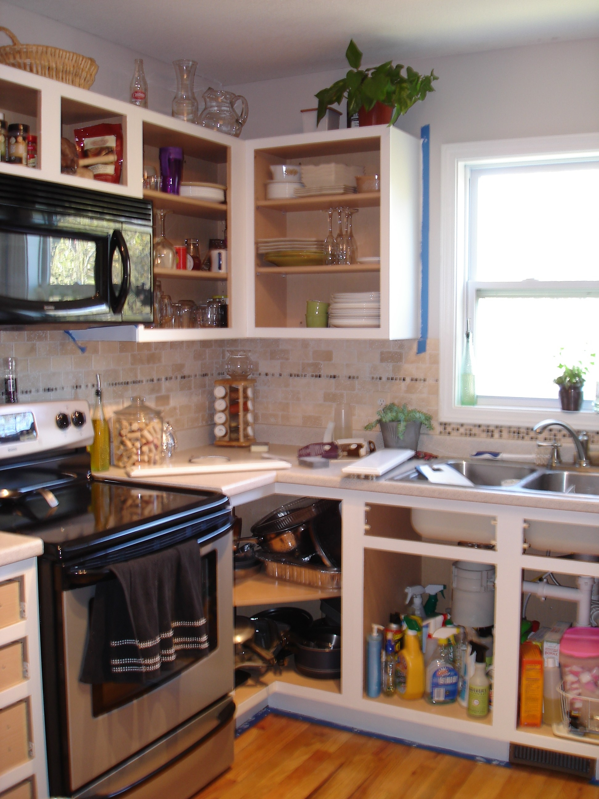 Rustic Kitchen Cabinets Without Doors