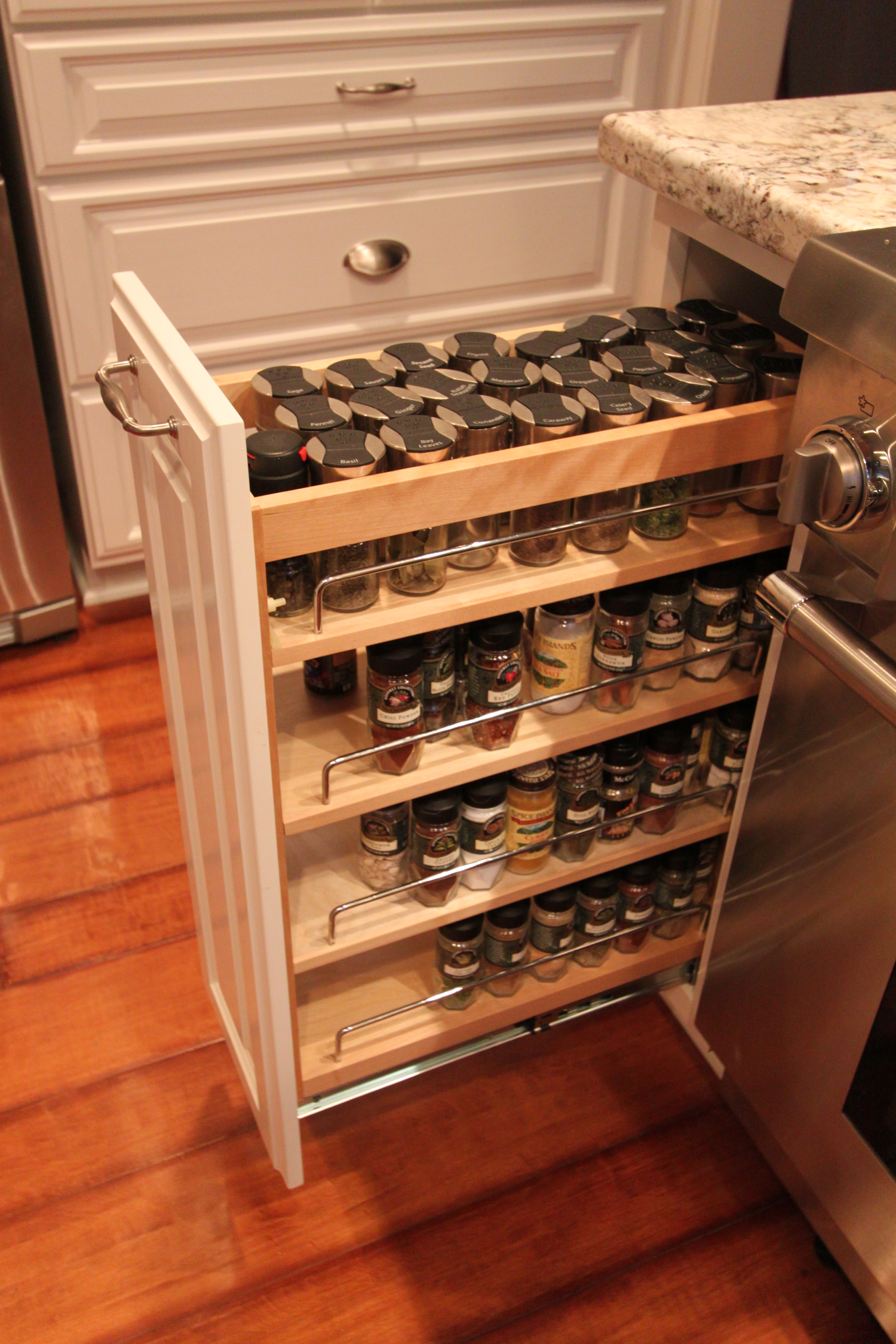 Sliding Spice Racks Kitchen Cabinets