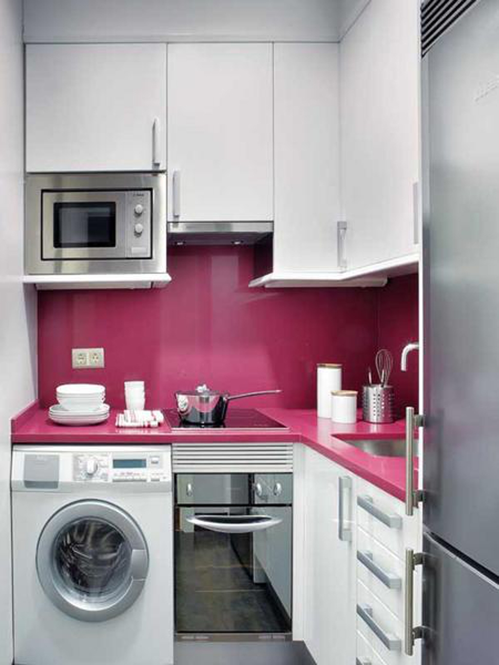 Small Apartment Kitchen Cabinet Design