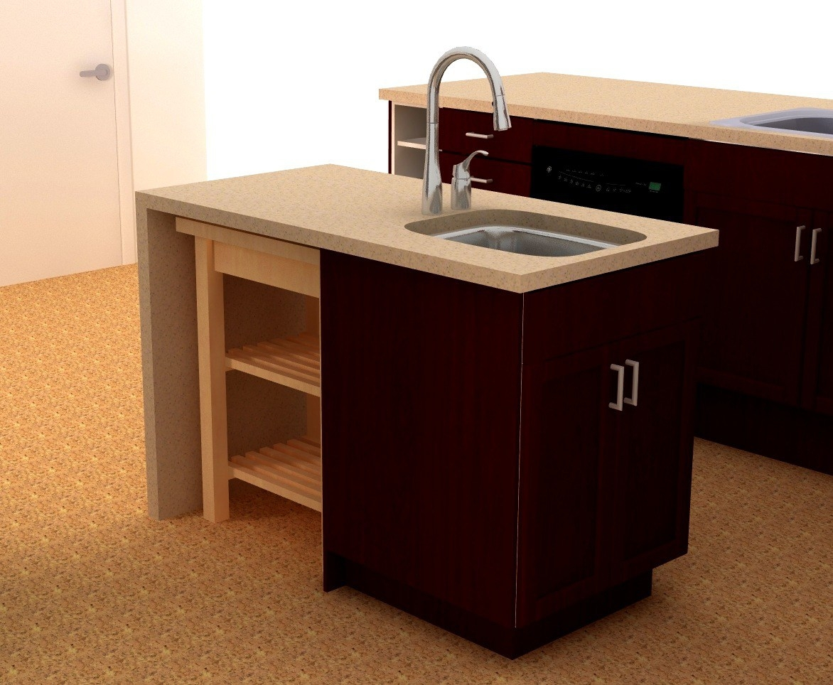 Small Kitchen Sink And Cabinet