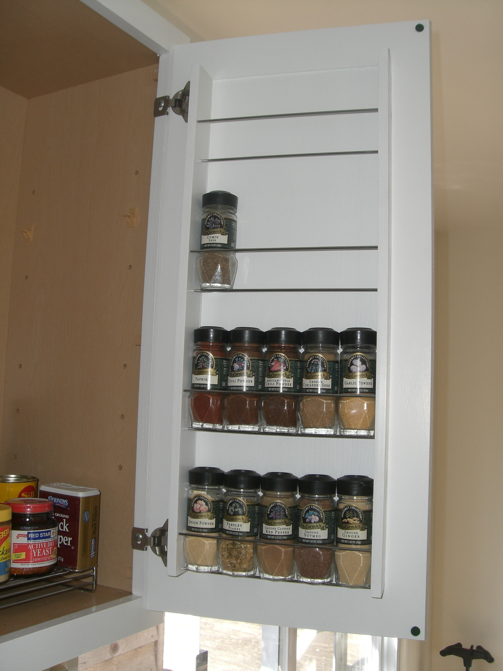 Spice Rack For Kitchen Cabinet Door