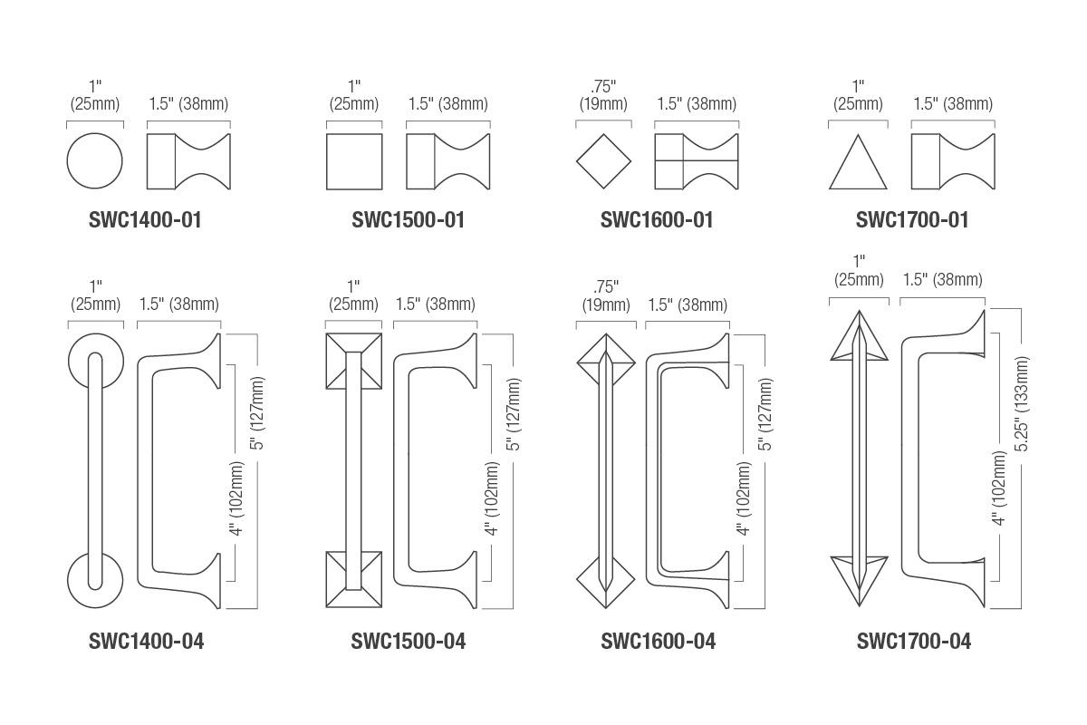 Standard Size For Kitchen Cabinet Handles