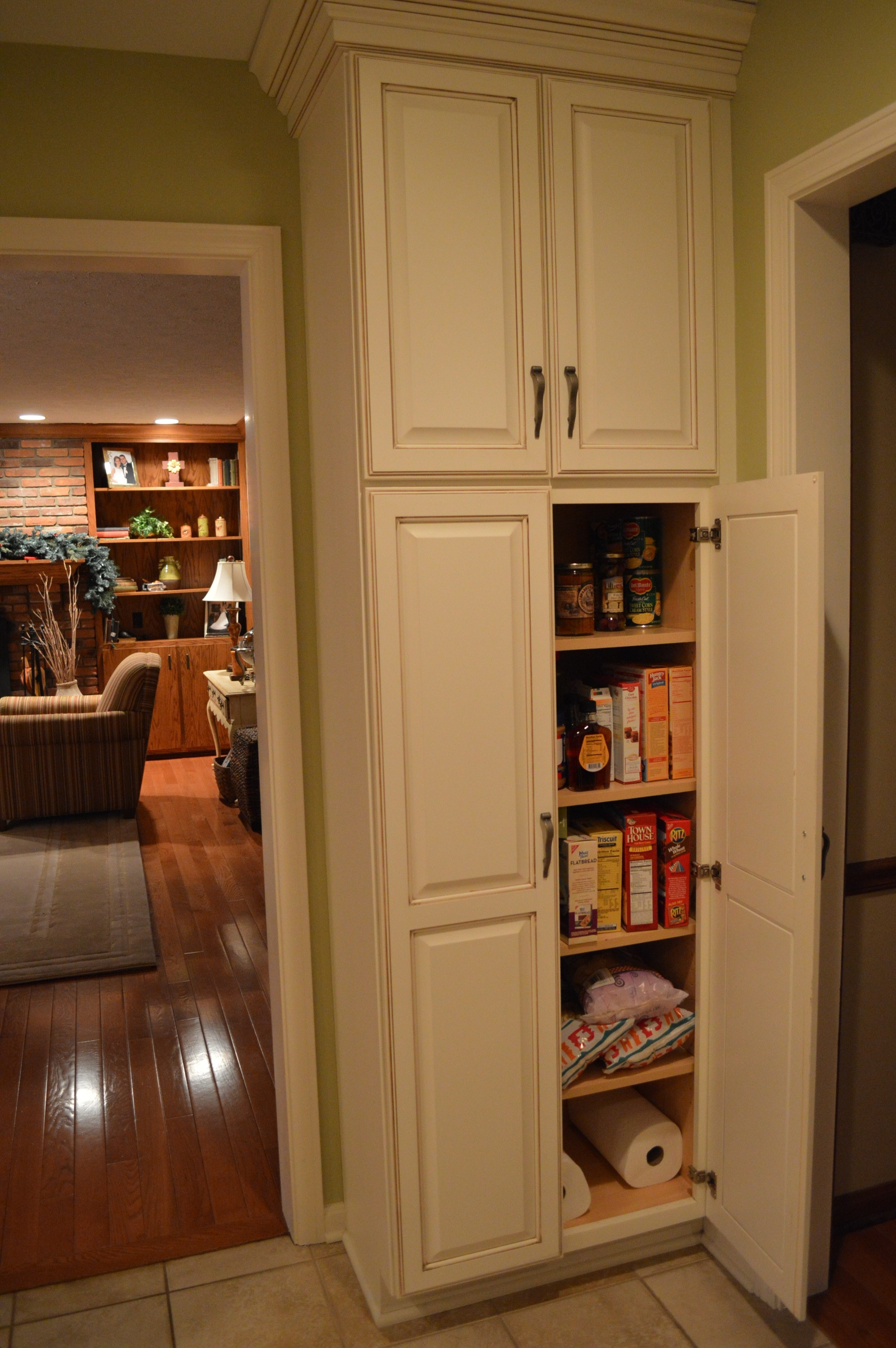 Tall Wooden Kitchen Pantry Cabinet