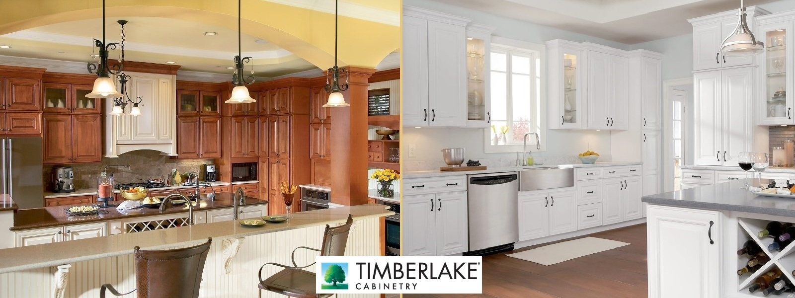 Timberlake White Kitchen Cabinets