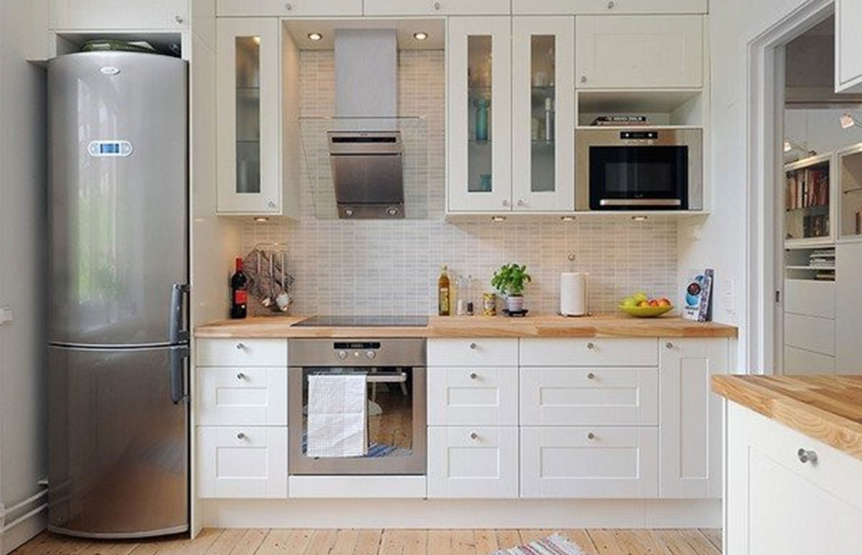 Upper Kitchen Cabinet For Microwave