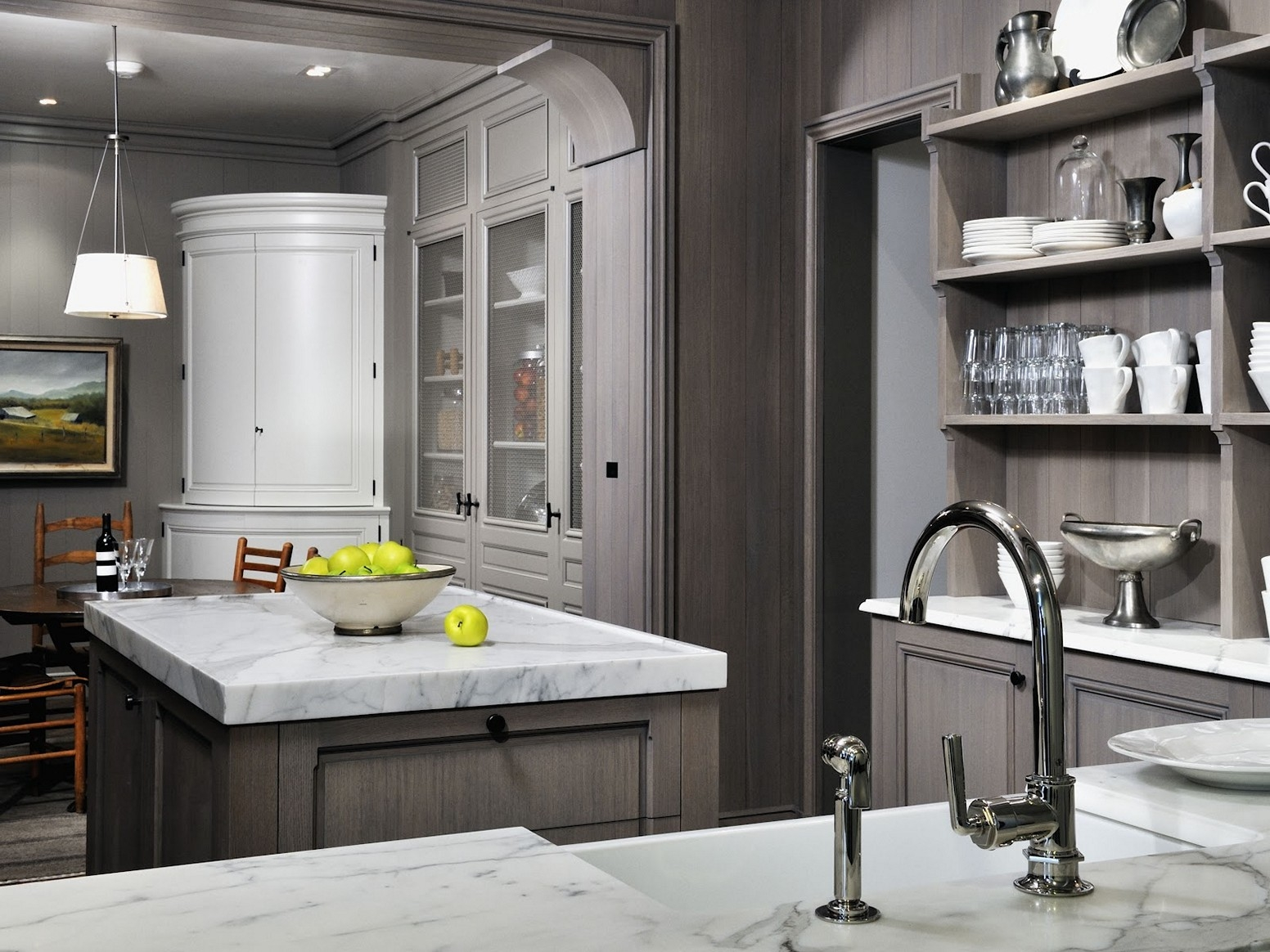 Wall Color Gray Kitchen Cabinets