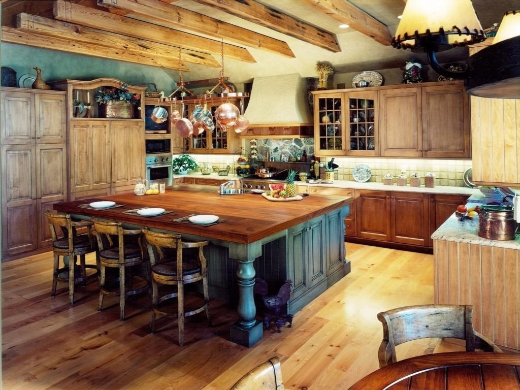 Western Themed Kitchen Cabinets