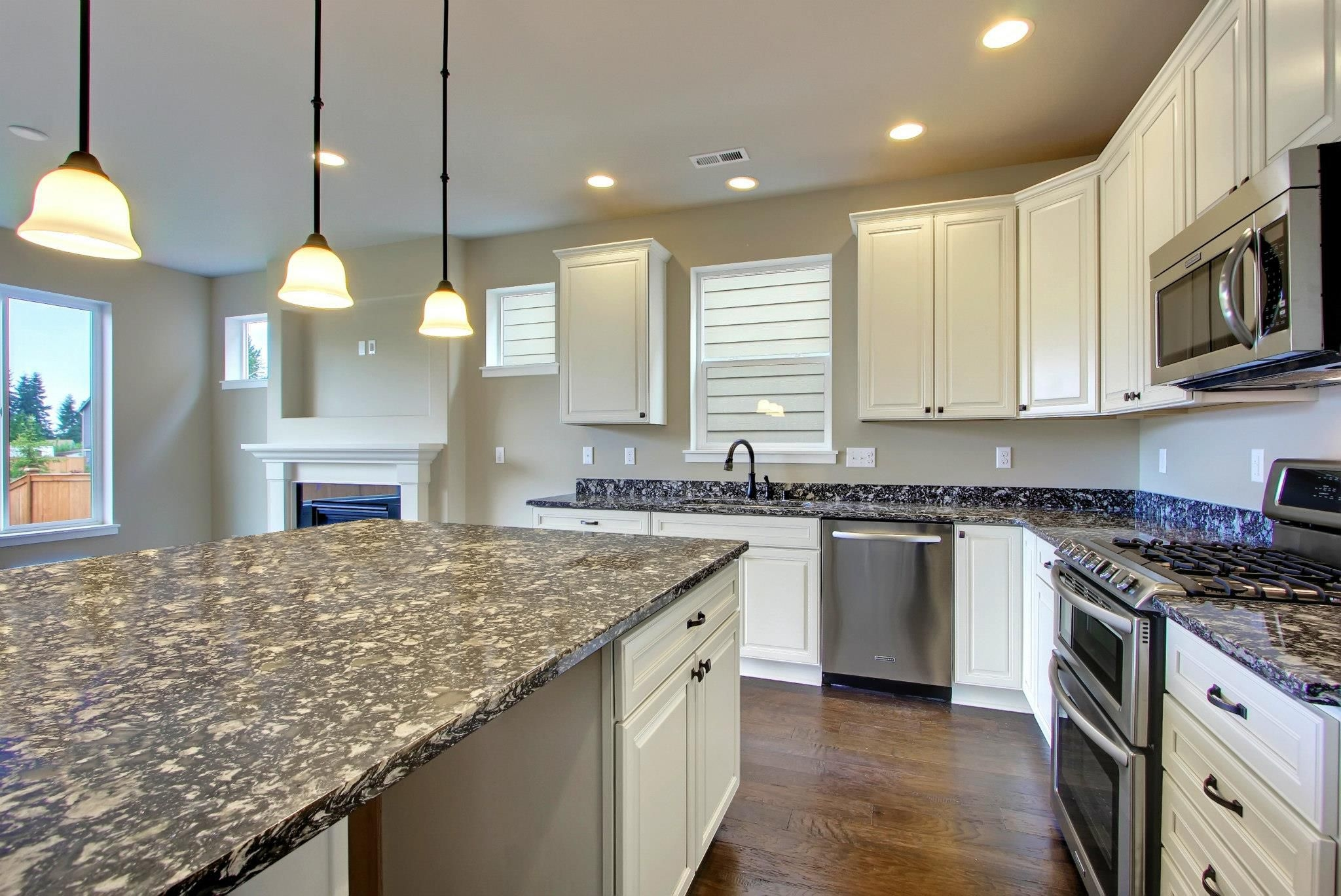 White Kitchen Cabinets And Dark Countertops
