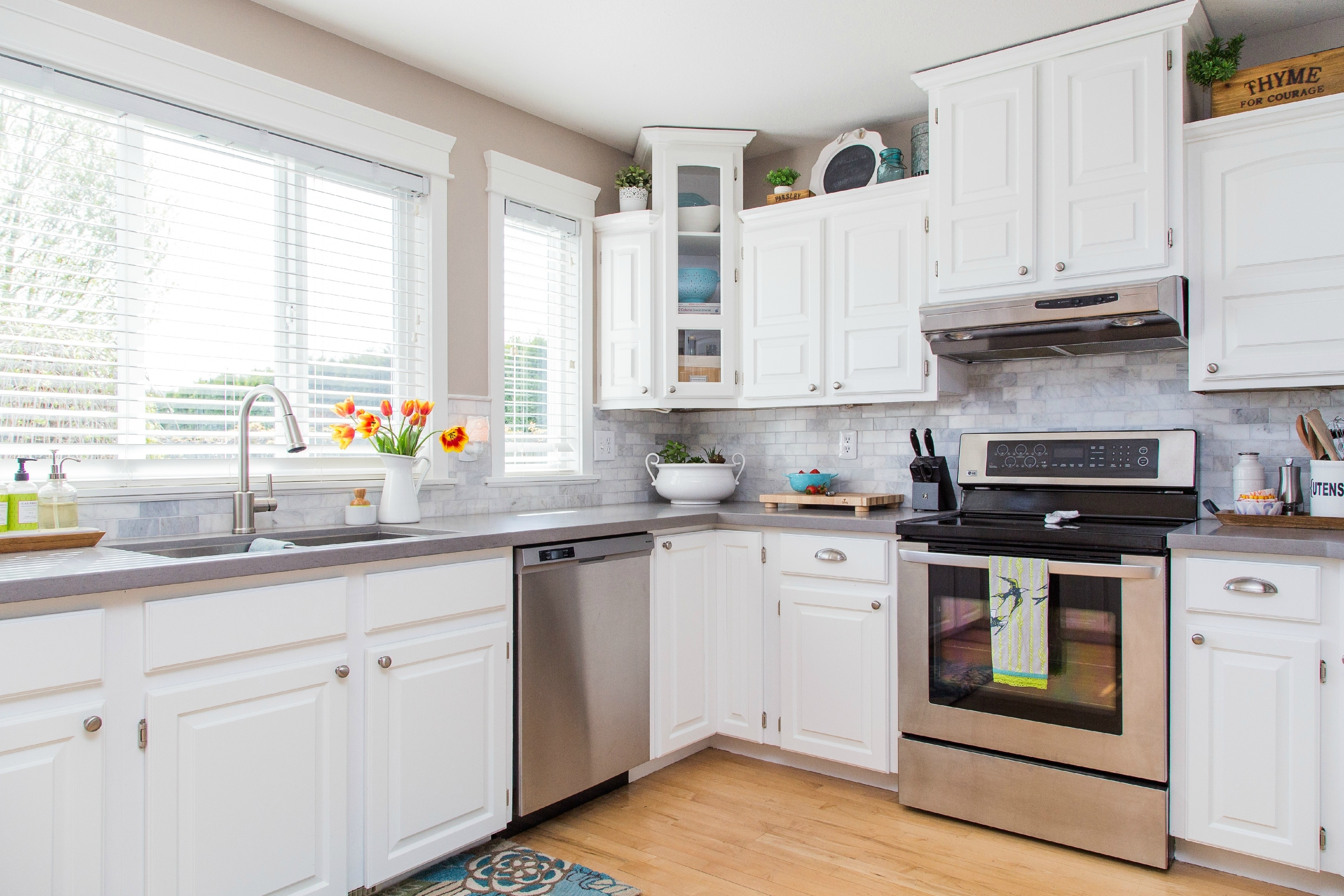 White Kitchen Cabinets Inside
