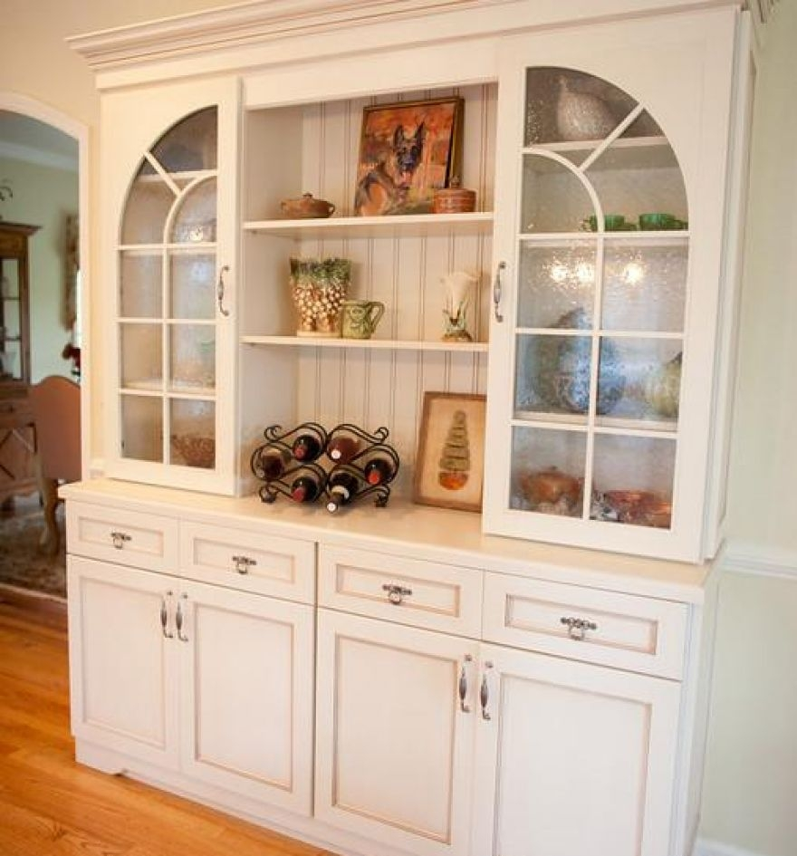 White Kitchen Wall Cabinets Glass Doors