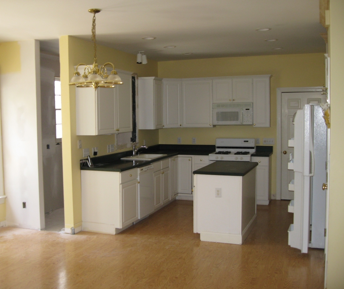 White Vinyl Kitchen Cabinets