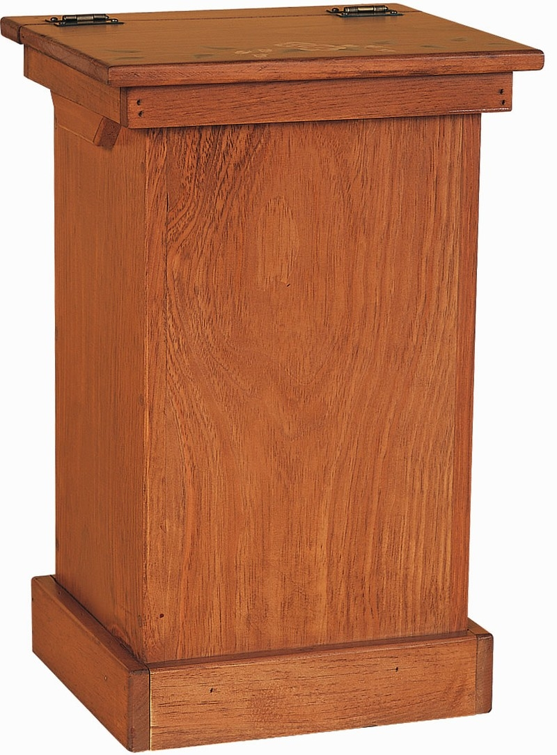 Wood Kitchen Trash Can Cabinet