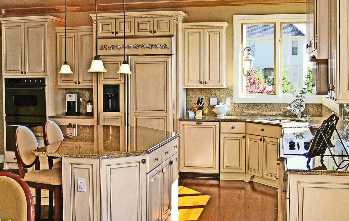 Antiquing White Kitchen Cabinets With Glaze