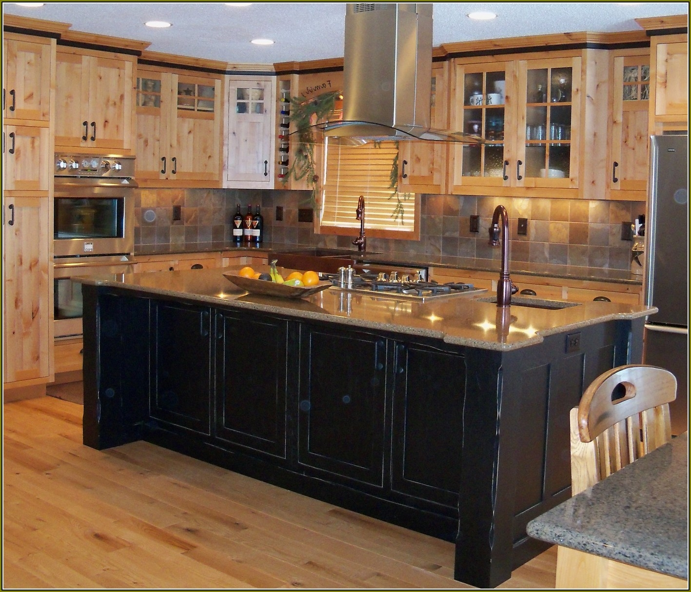 Black Distressed Kitchen Cabinets Pictures